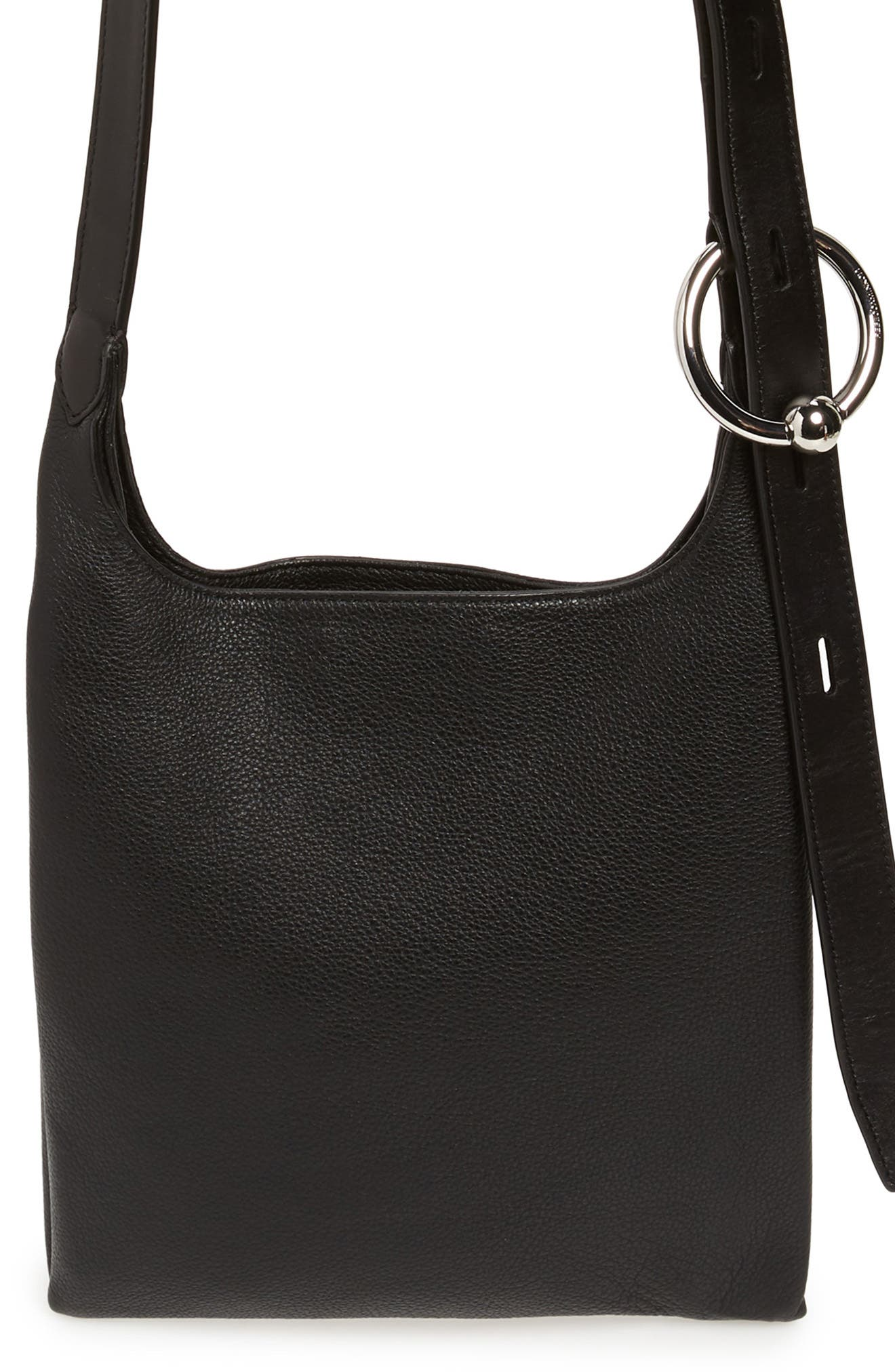 Small Karlie Leather Feed Bag - Black