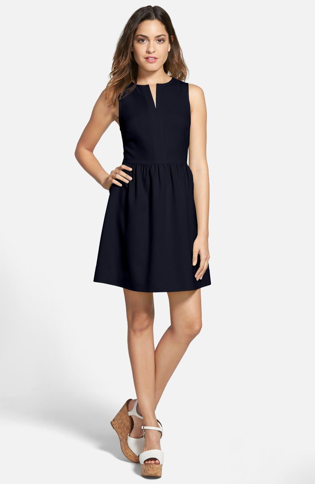 'Rowan' V-Neck Skater Dress,                             Main thumbnail 6, color,