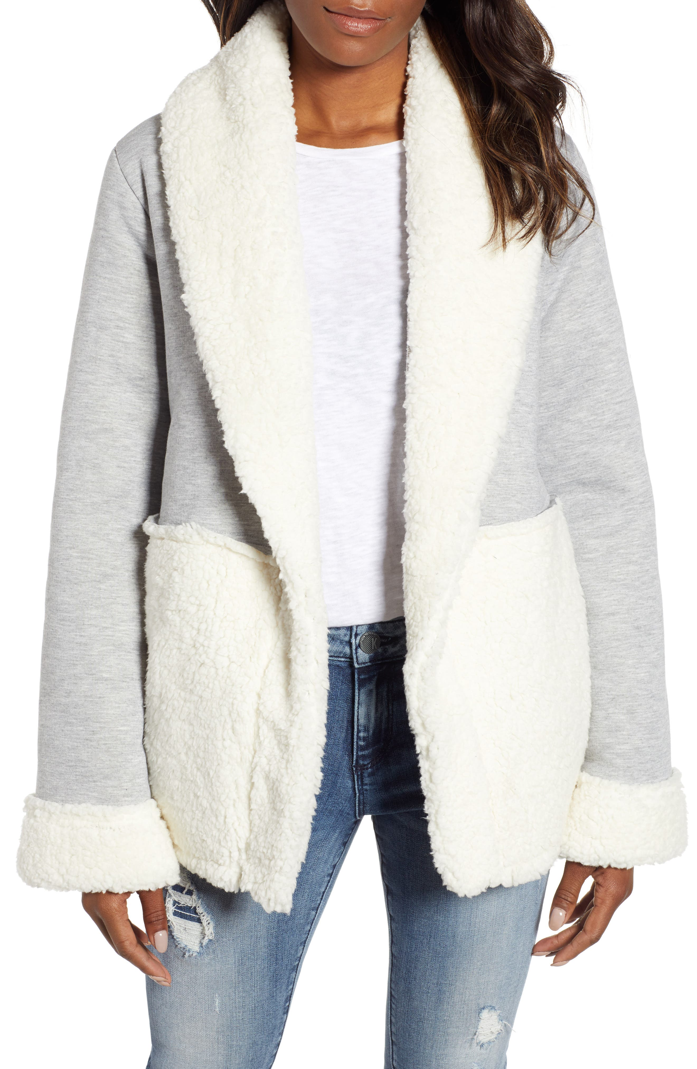 CASLON<SUP>®</SUP> Faux Shearling Jacket, Main, color, 030