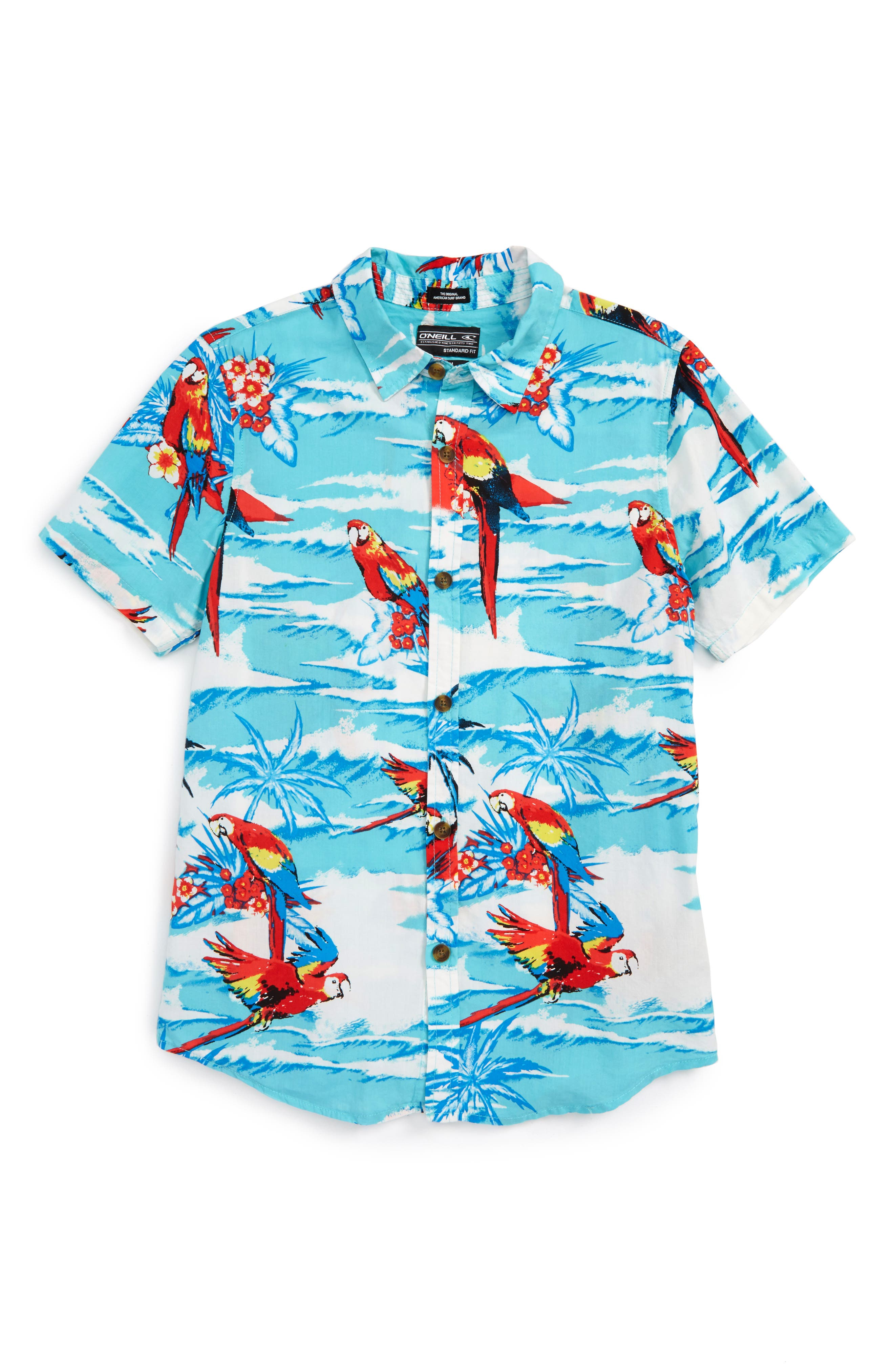Macaw Sport Shirt,                         Main,                         color, 492