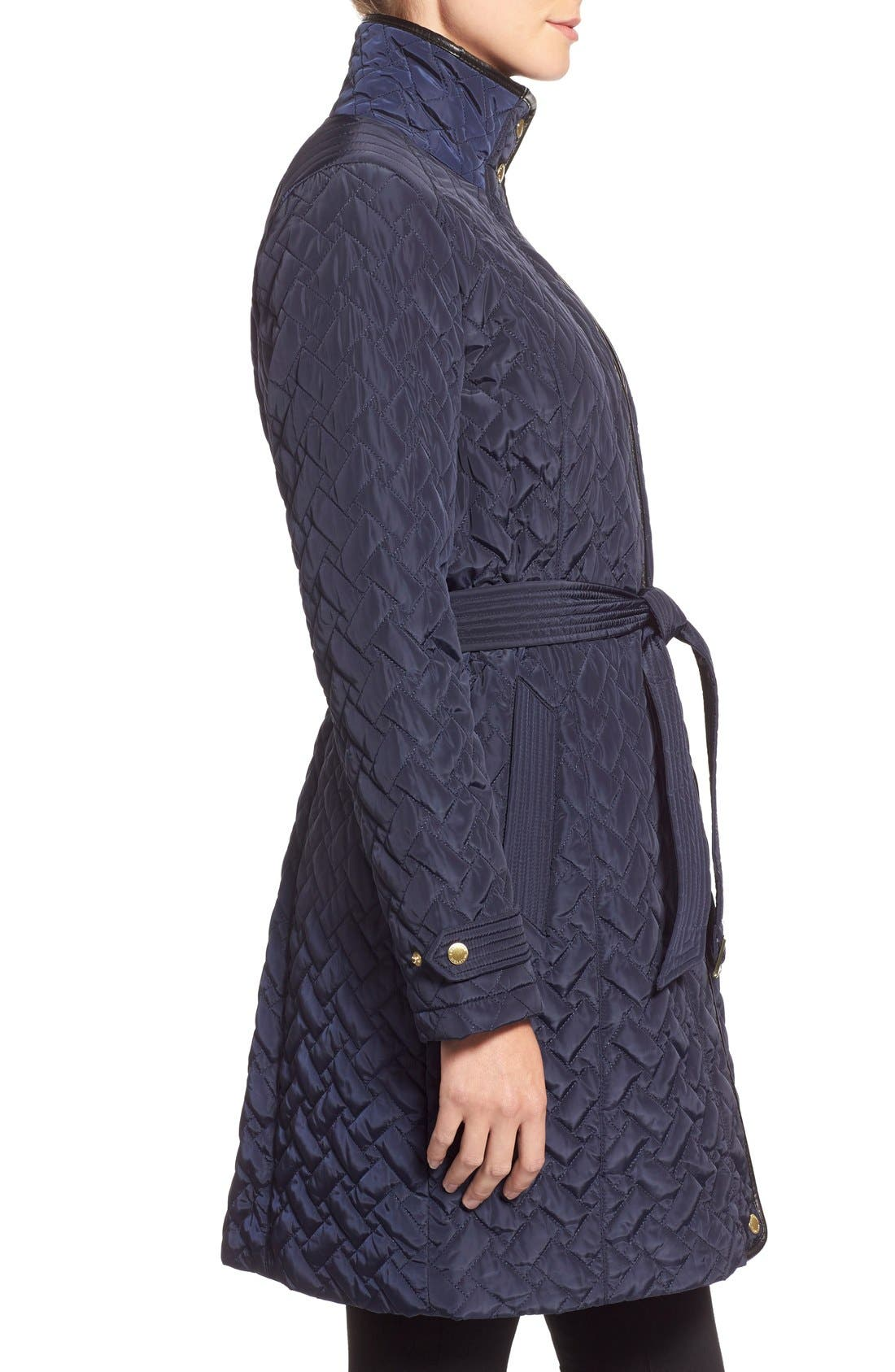 Belted Quilted Coat,                             Alternate thumbnail 17, color,