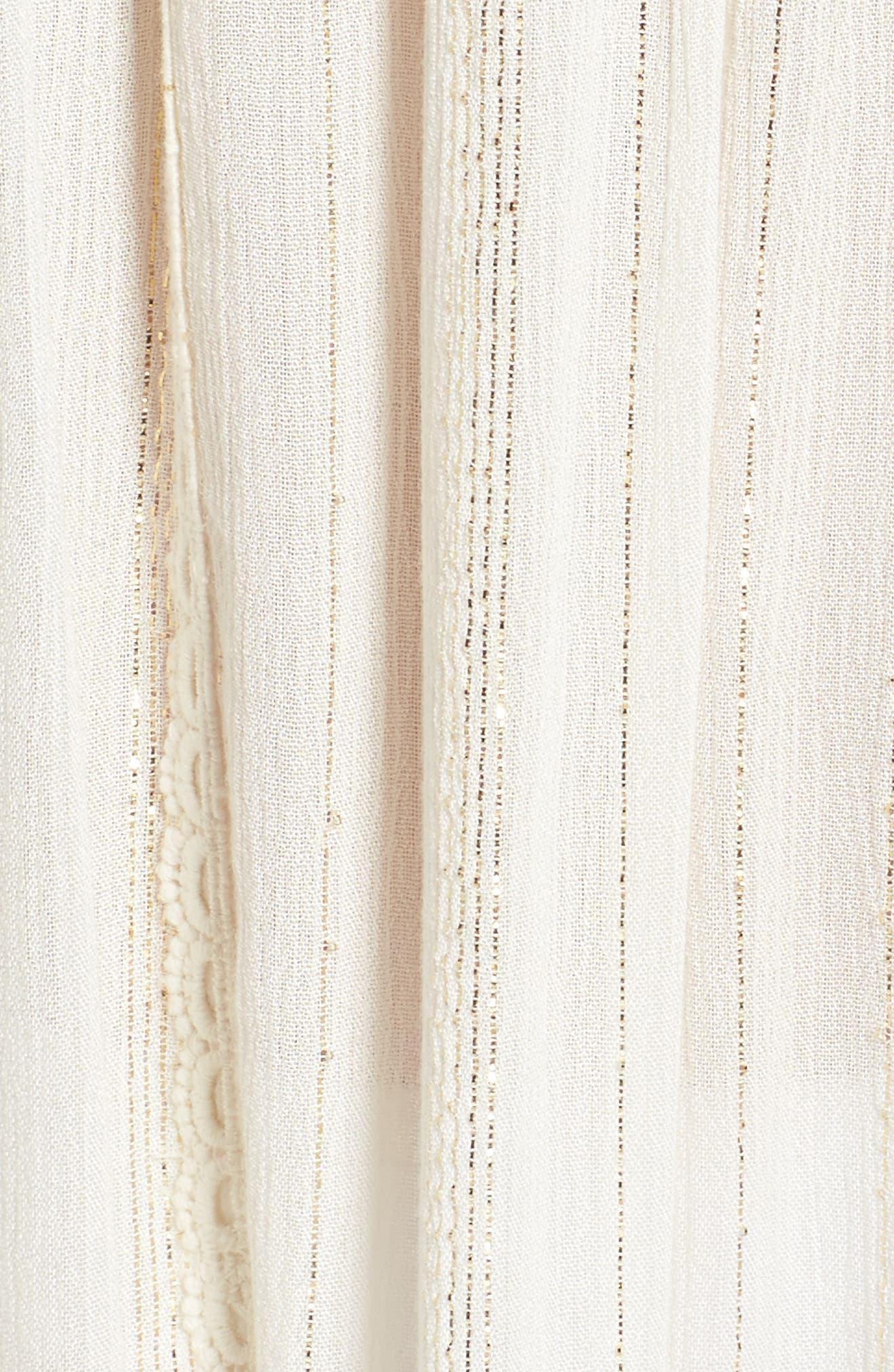 Iris Ruffle Cover-Up Dress,                             Alternate thumbnail 5, color,                             100