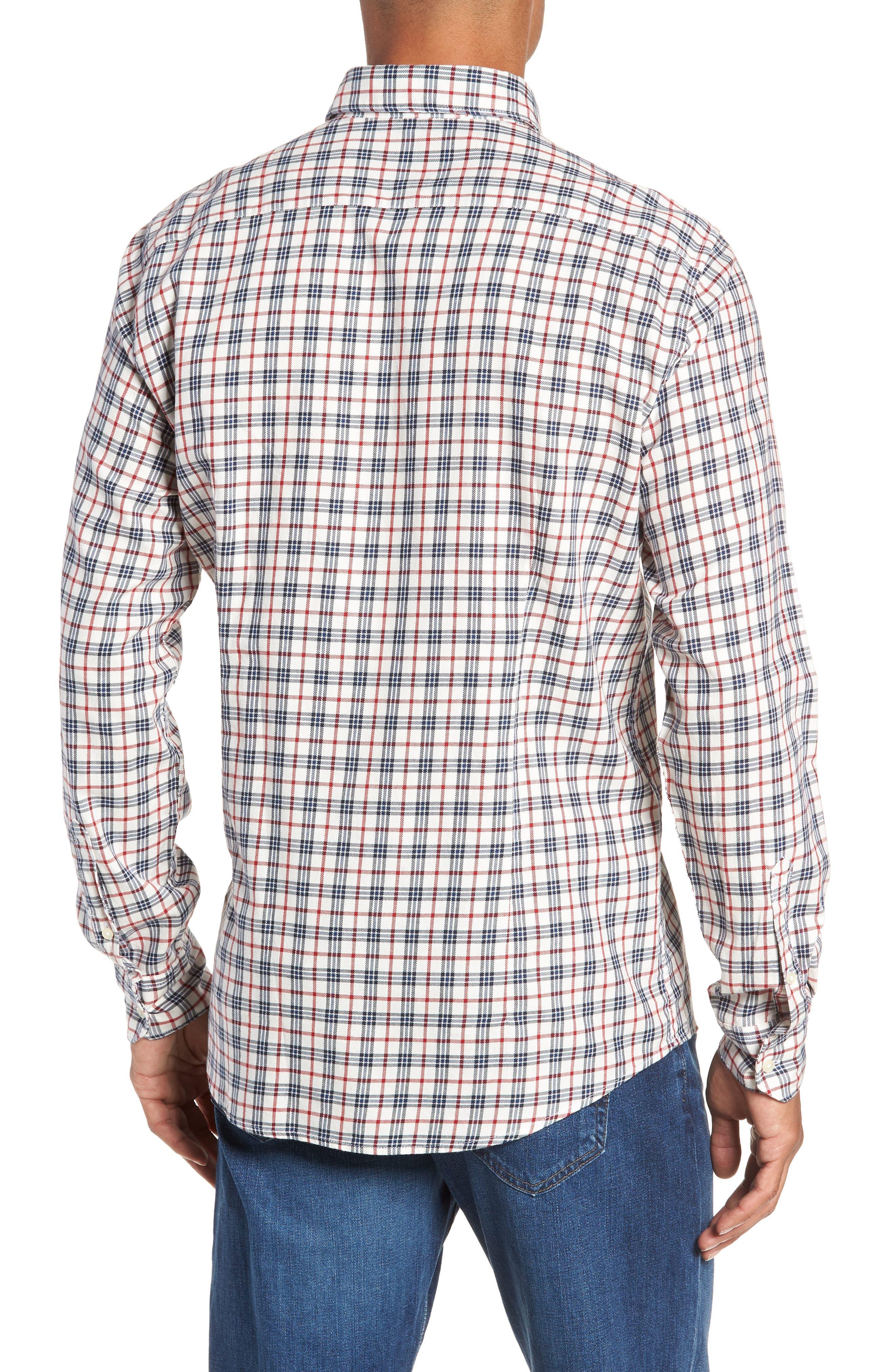 Stapleton Country Check Sport Shirt,                             Alternate thumbnail 3, color,                             100