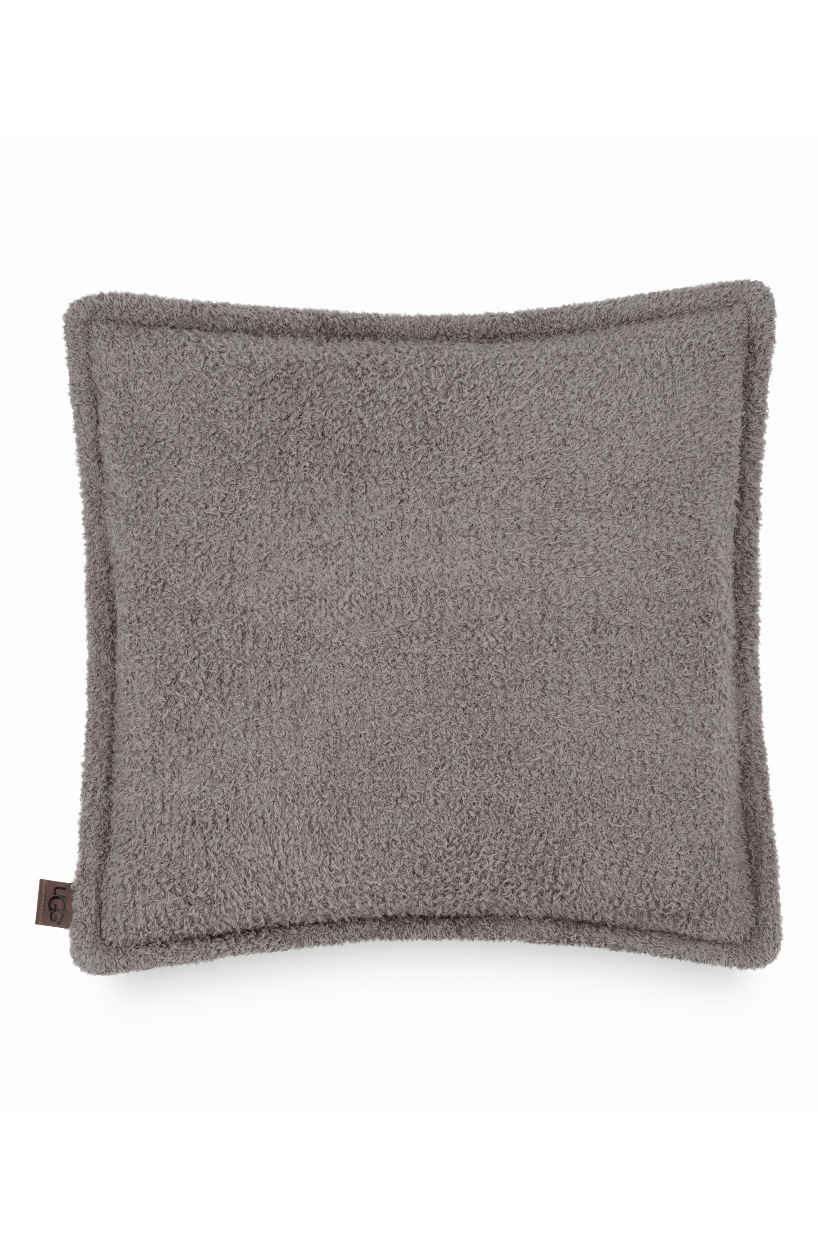 Ana Fuzzy Pillow,                         Main,                         color, CHARCOAL