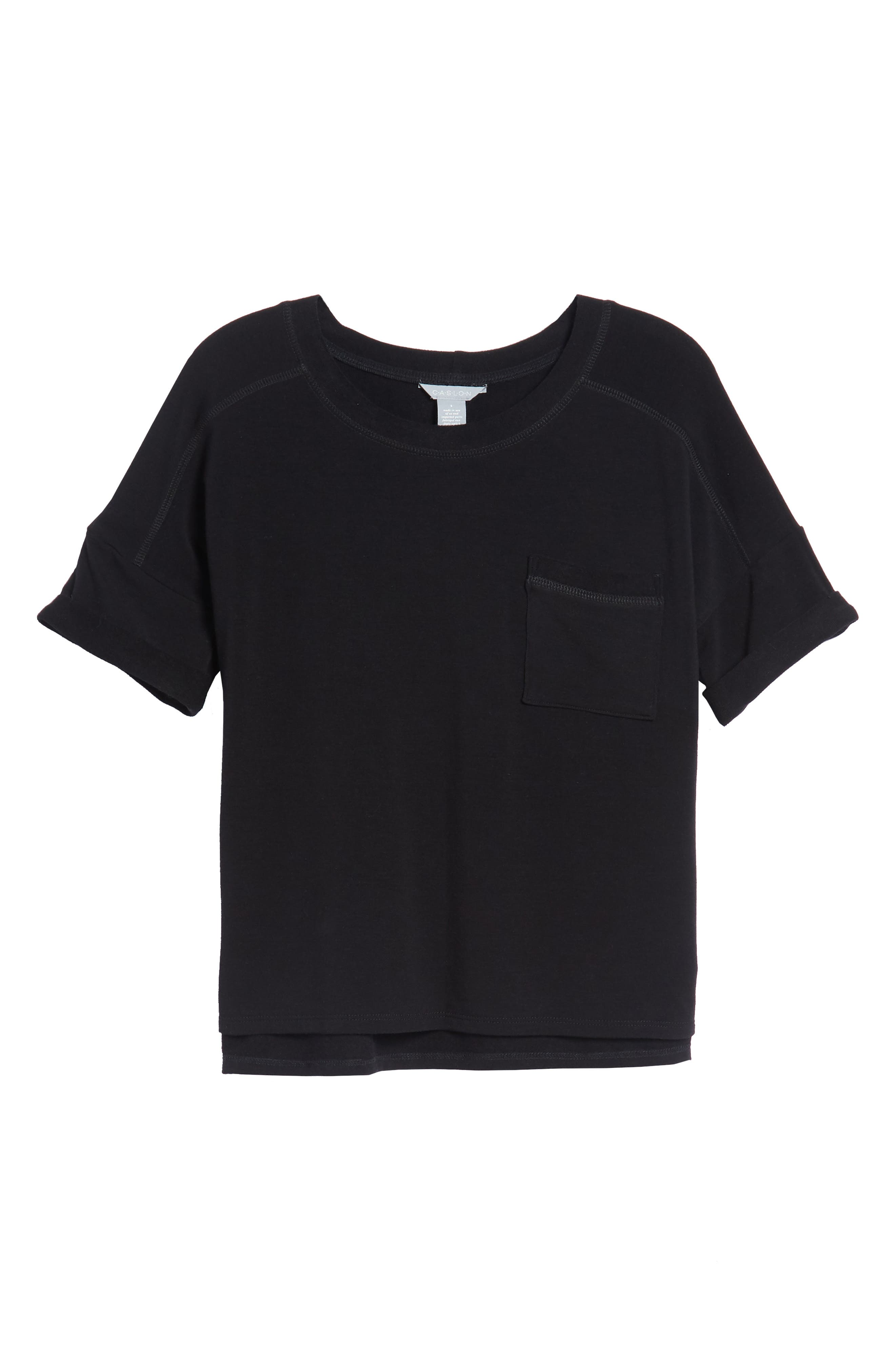 Off-Duty Pocket Tee,                             Alternate thumbnail 6, color,                             001