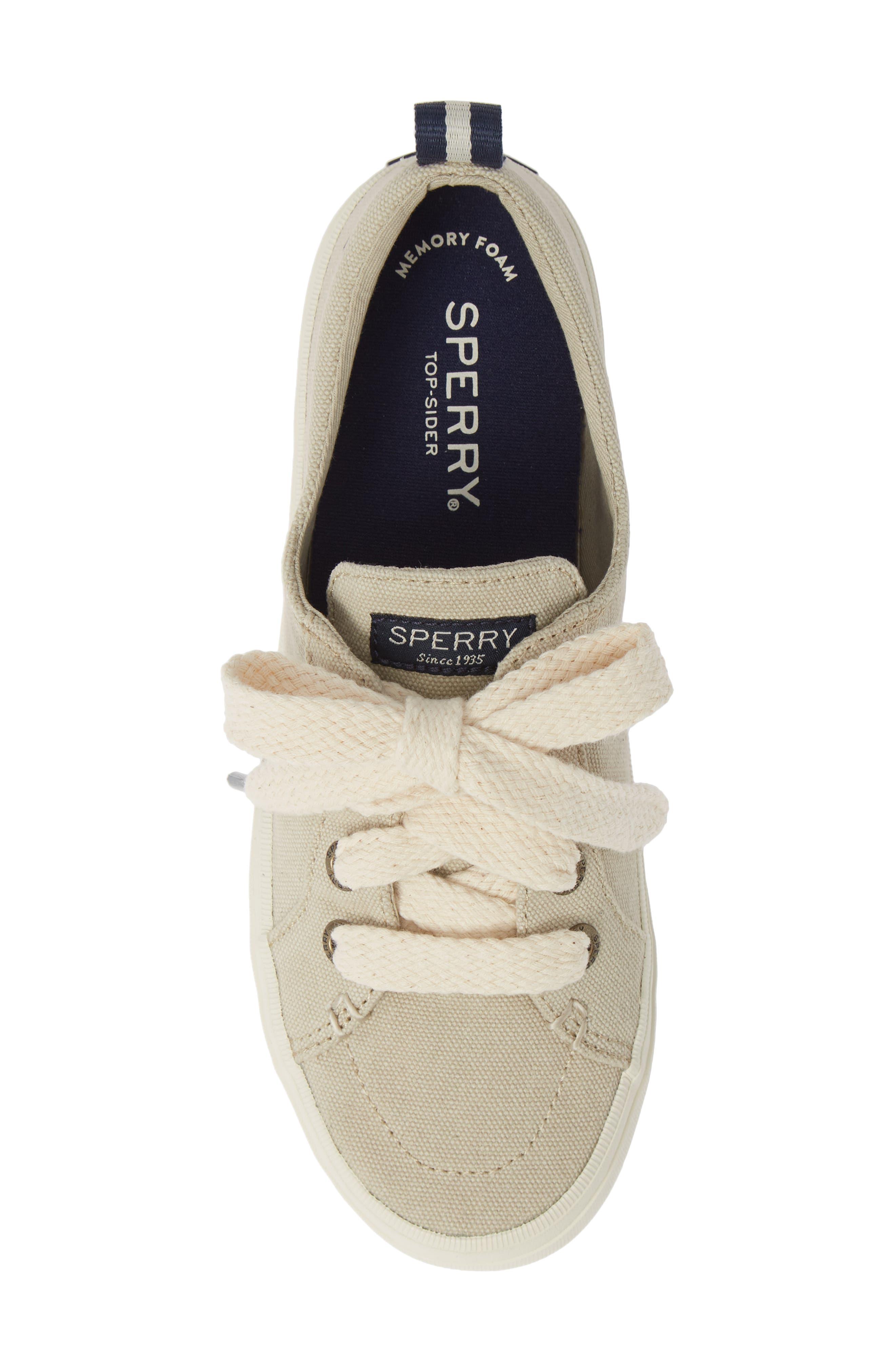 Crest Vibe Sneaker,                             Alternate thumbnail 5, color,                             IVORY CANVAS
