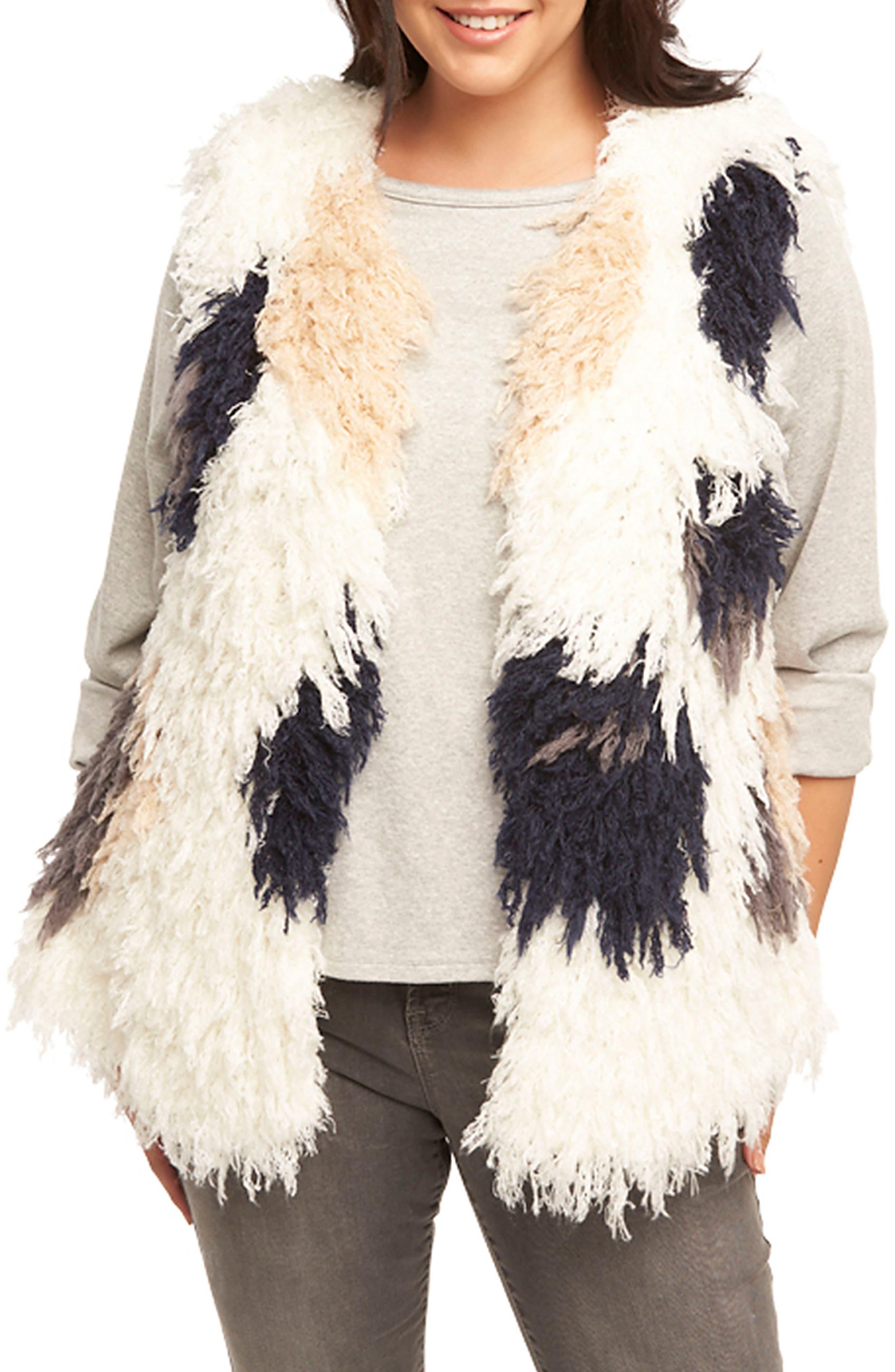 Mave Spot Shaggy Faux Fur Vest,                             Alternate thumbnail 4, color,                             470