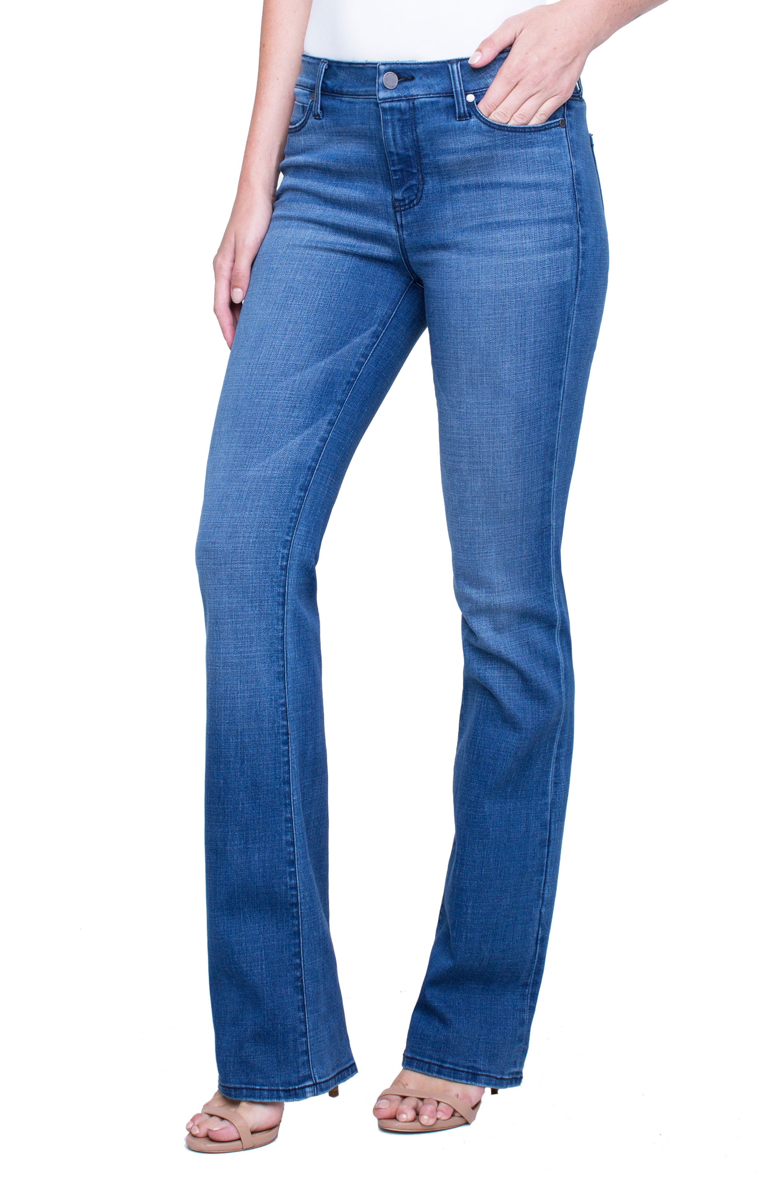 Lucy Stretch Bootcut Jeans,                             Main thumbnail 1, color,                             SUNDANCE