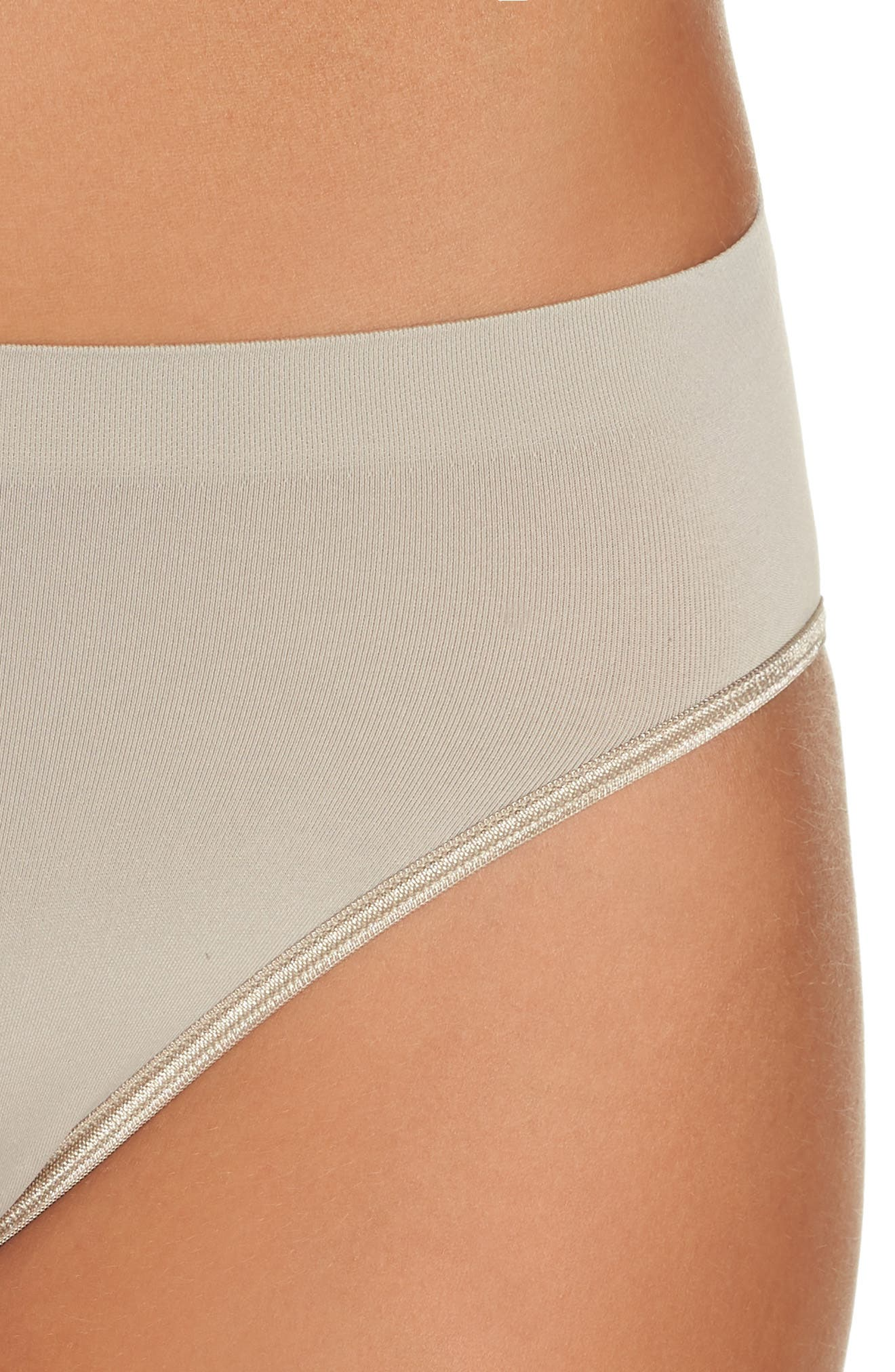 'Touch Feeling' High Cut Briefs,                             Alternate thumbnail 4, color,                             NATURAL STONE