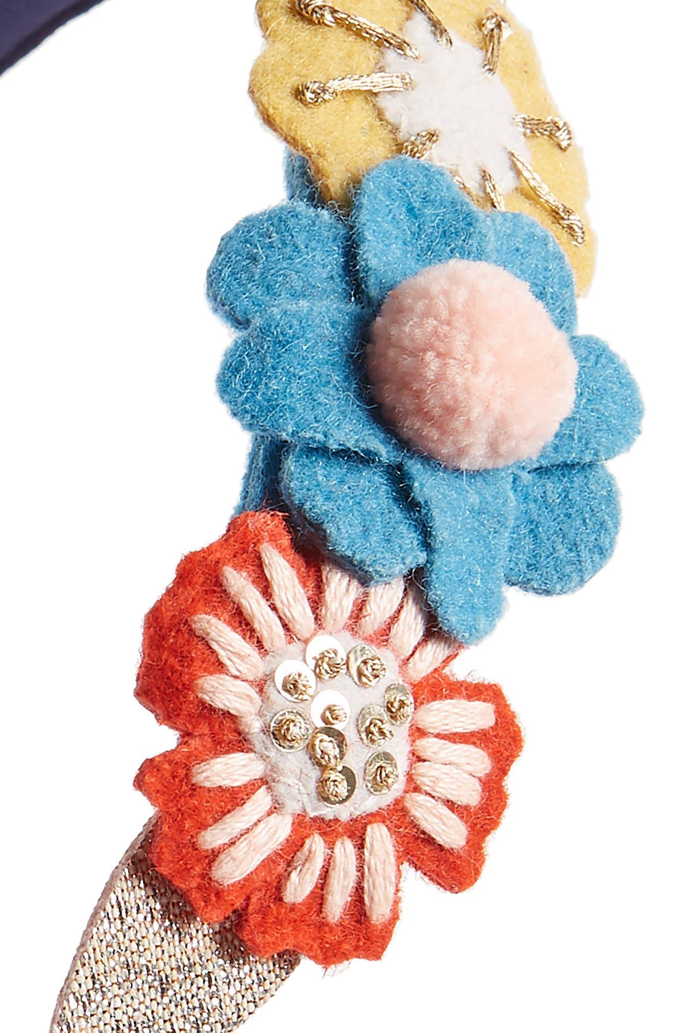 Flower Headband,                             Alternate thumbnail 2, color,                             MUL MULTI