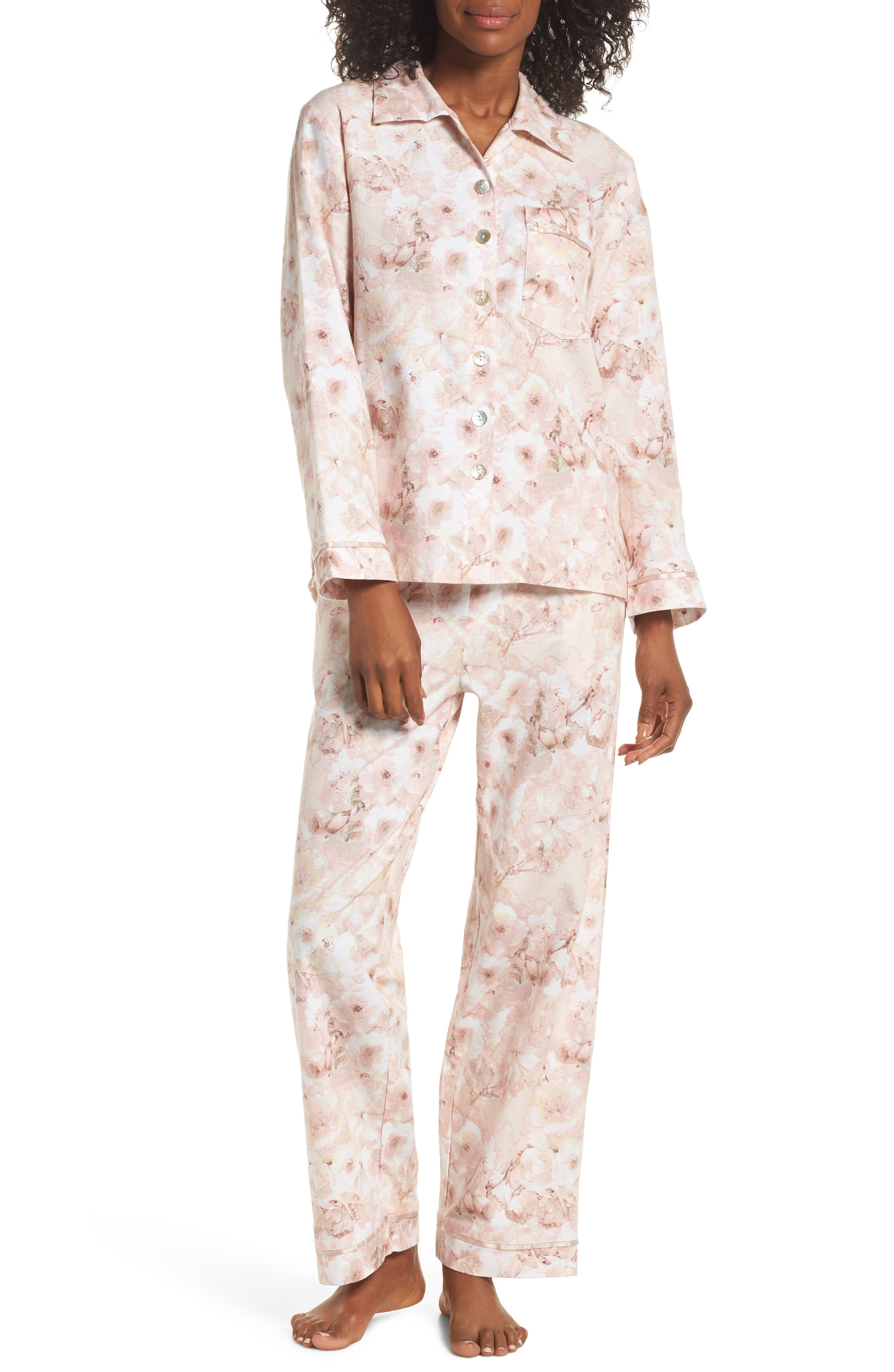 Papinelle Water Blossom Pajamas, Pink