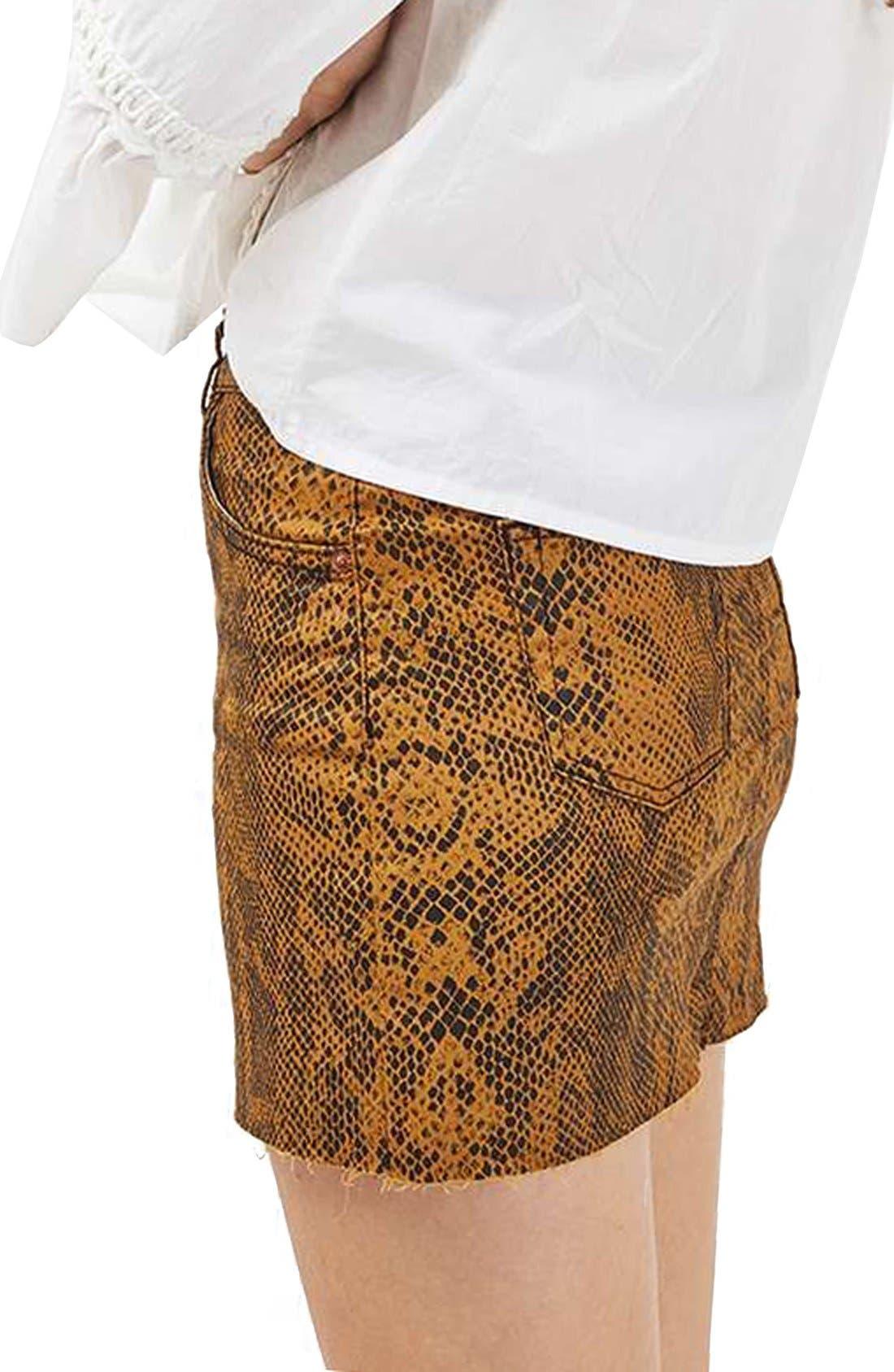 Snake Print Miniskirt,                             Alternate thumbnail 4, color,                             200