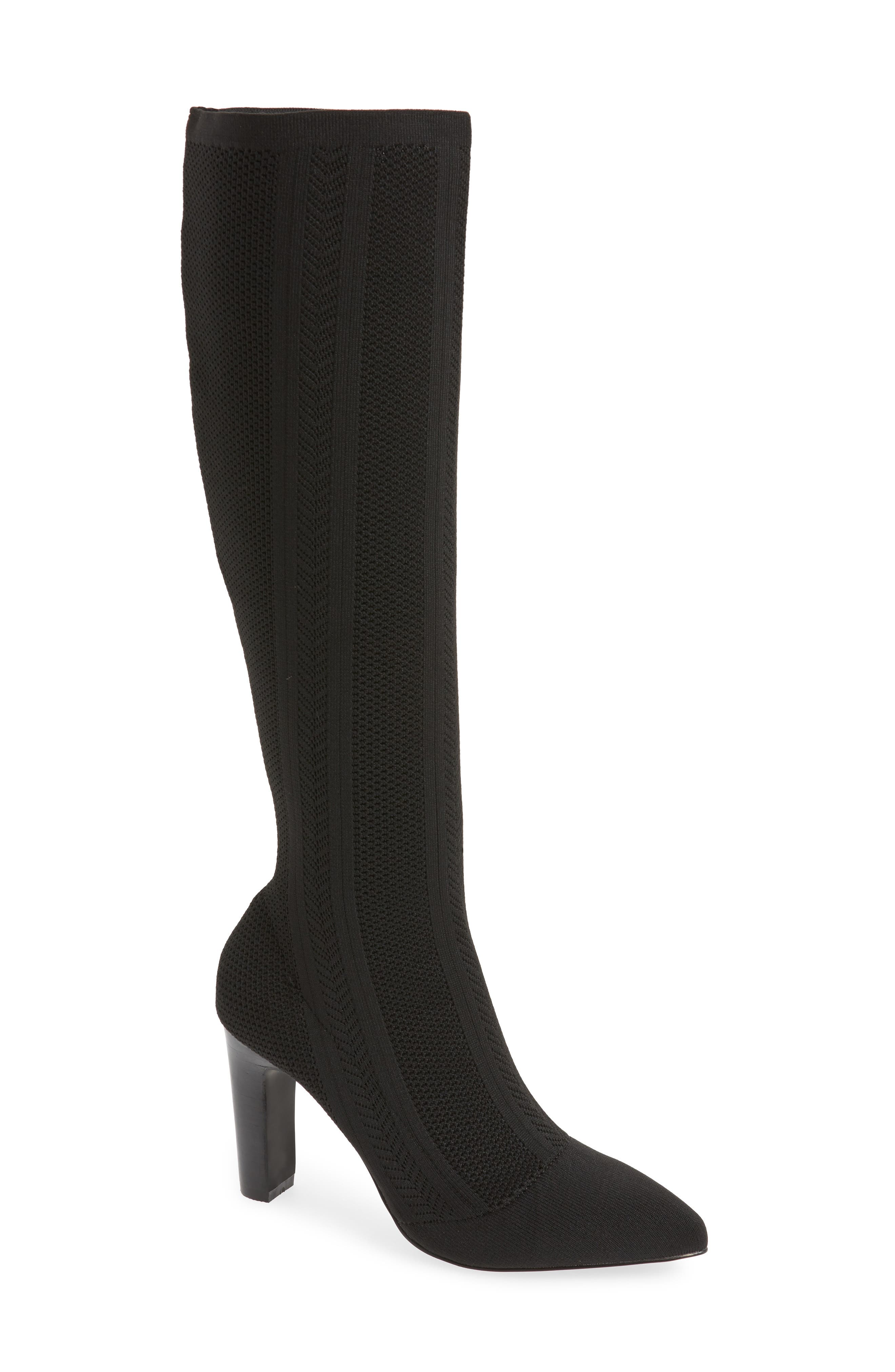 Davis Stretch Over-The-Knee Boots in Black