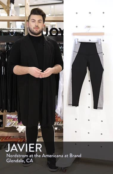 Sporty Splice High Waist Crop Leggings, sales video thumbnail