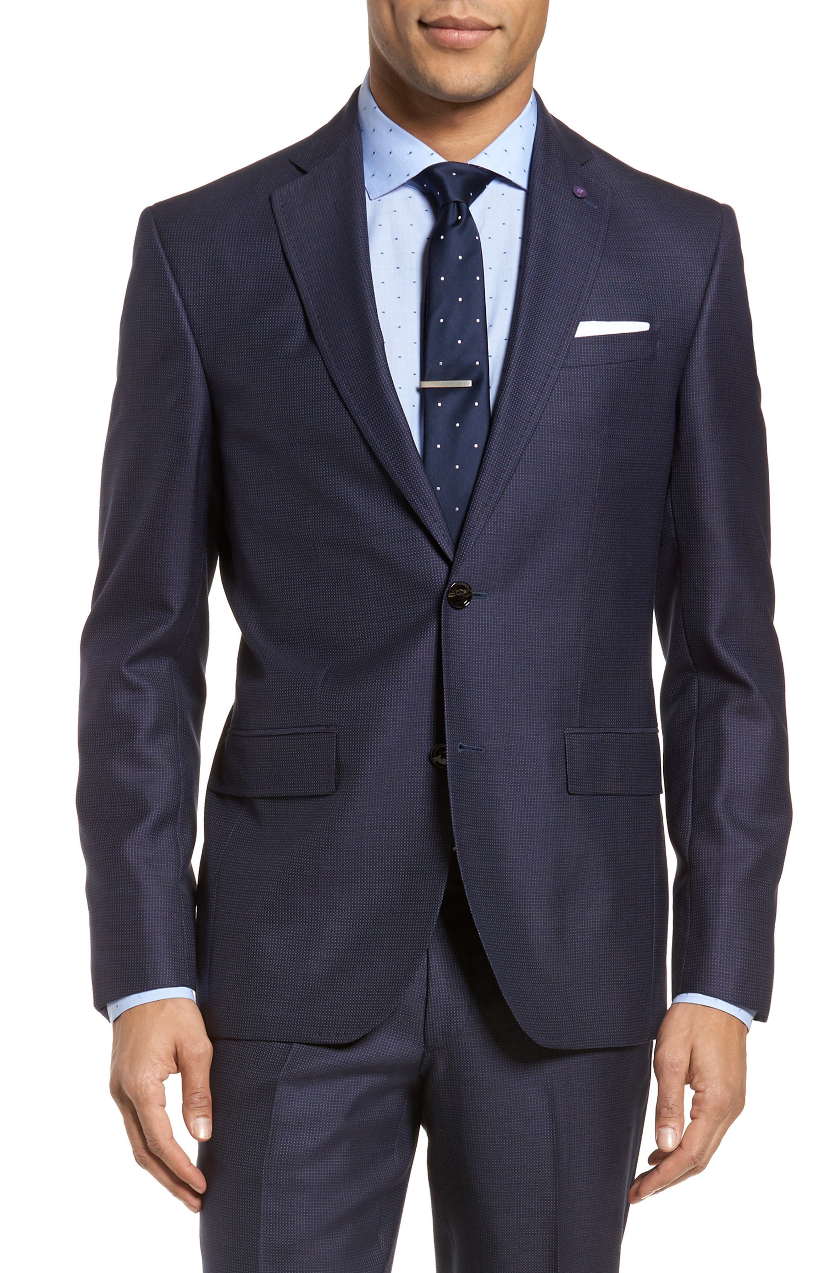 Roger Extra Slim Fit Solid Wool Suit,                             Alternate thumbnail 5, color,                             410