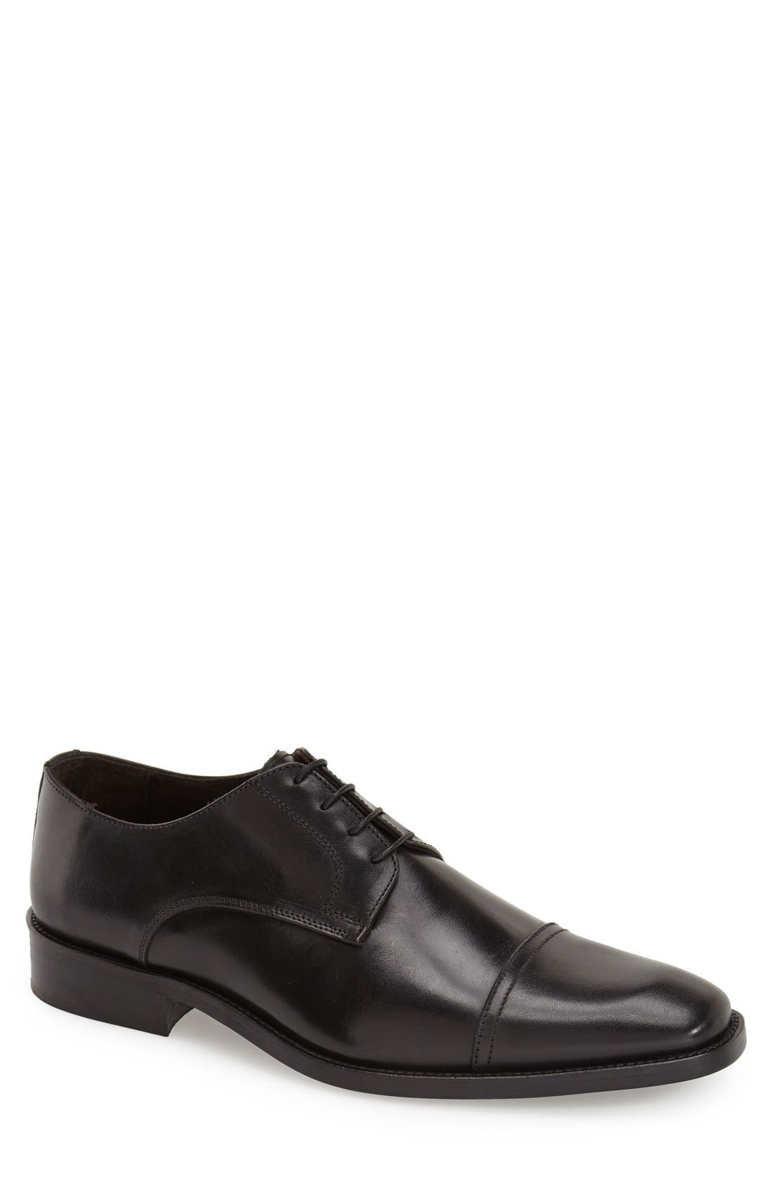 'Maxwell' Cap Toe Derby,                             Main thumbnail 1, color,                             001