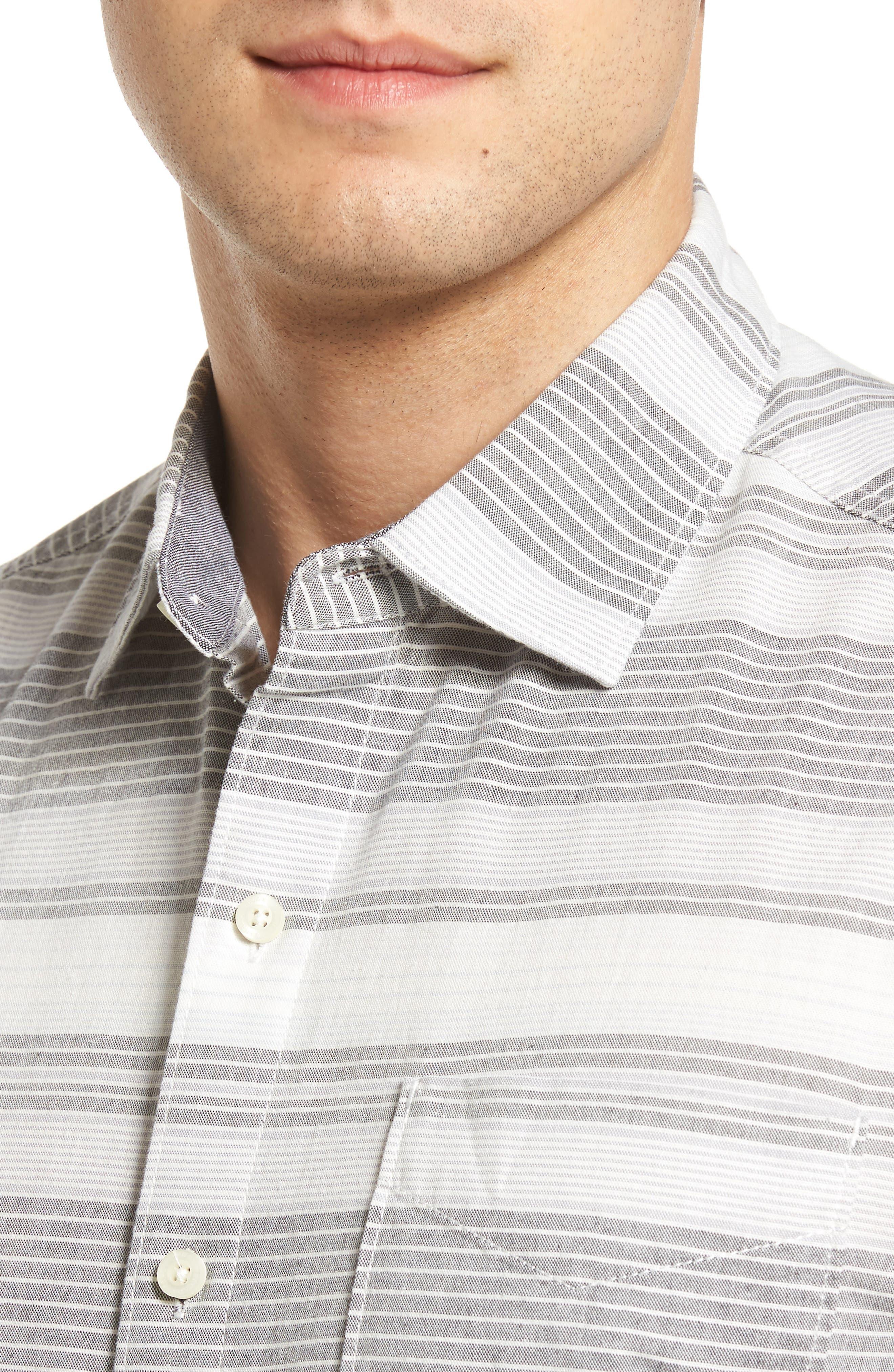 Clambake Stripe Standard Fit Sport Shirt,                             Alternate thumbnail 4, color,