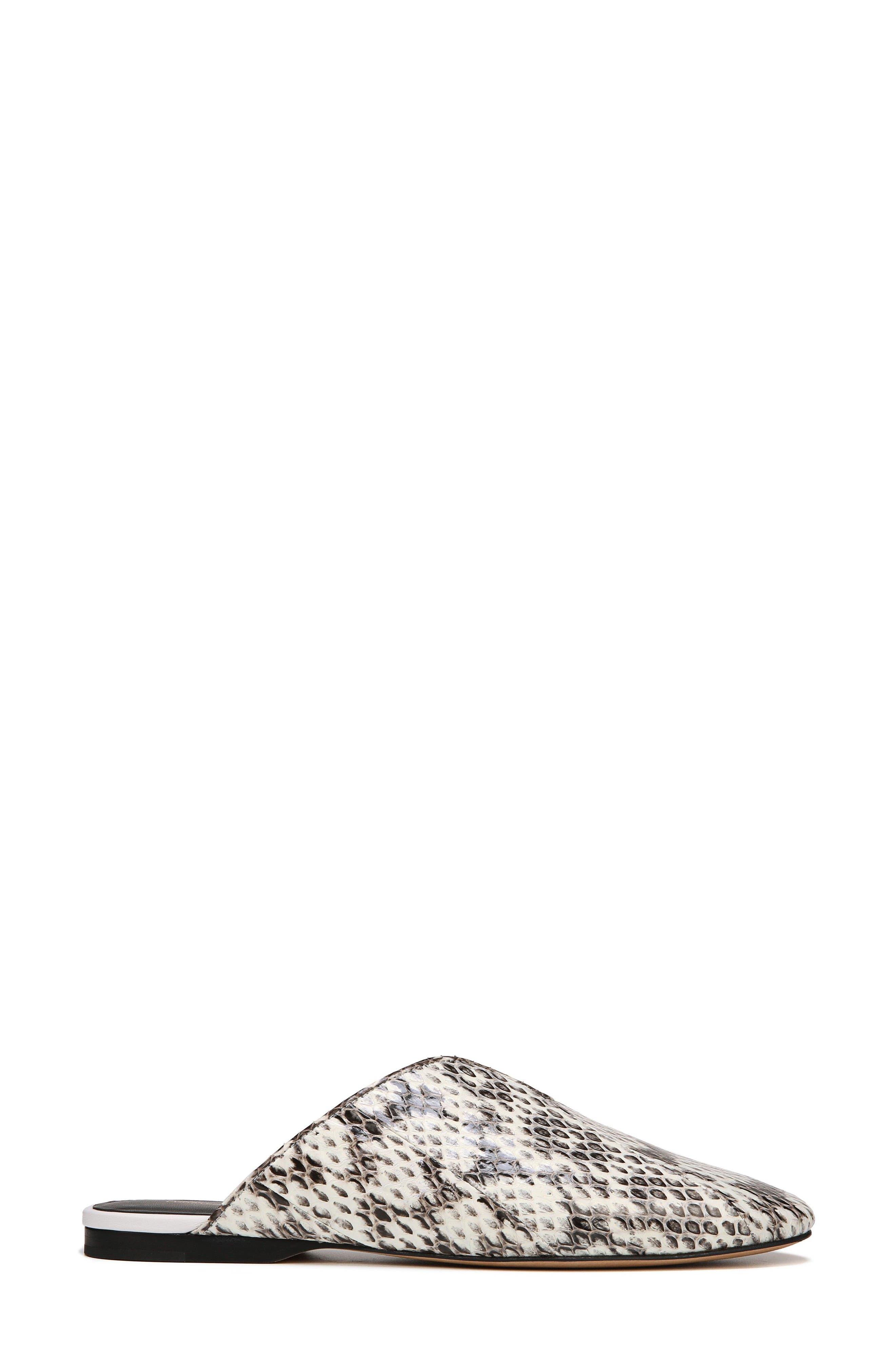 DVF Octavia Genuine Snakeskin Mule,                             Alternate thumbnail 3, color,                             NATURAL MULTI SNAKE