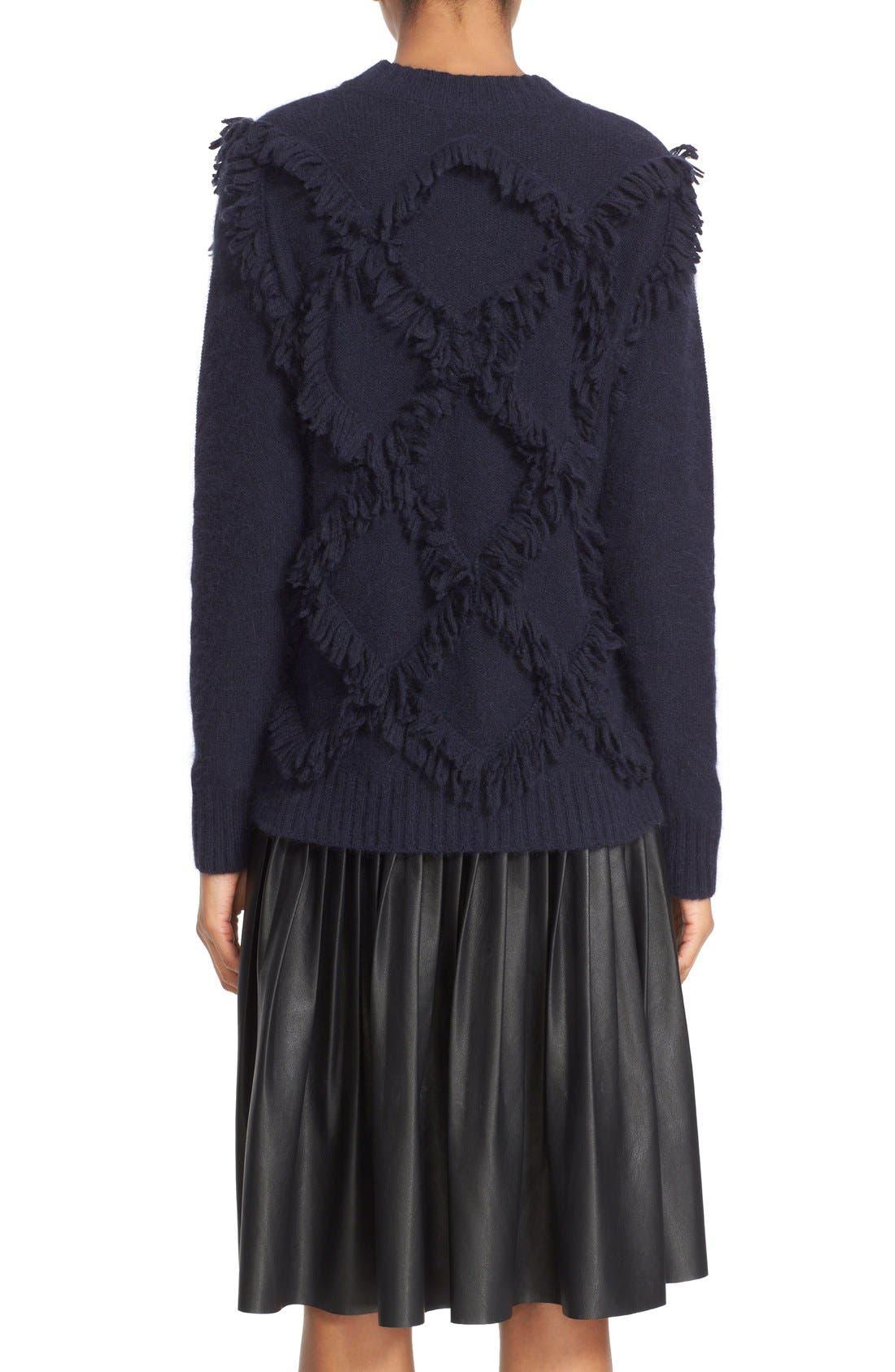 Fringe Pullover Sweater,                             Alternate thumbnail 2, color,                             410