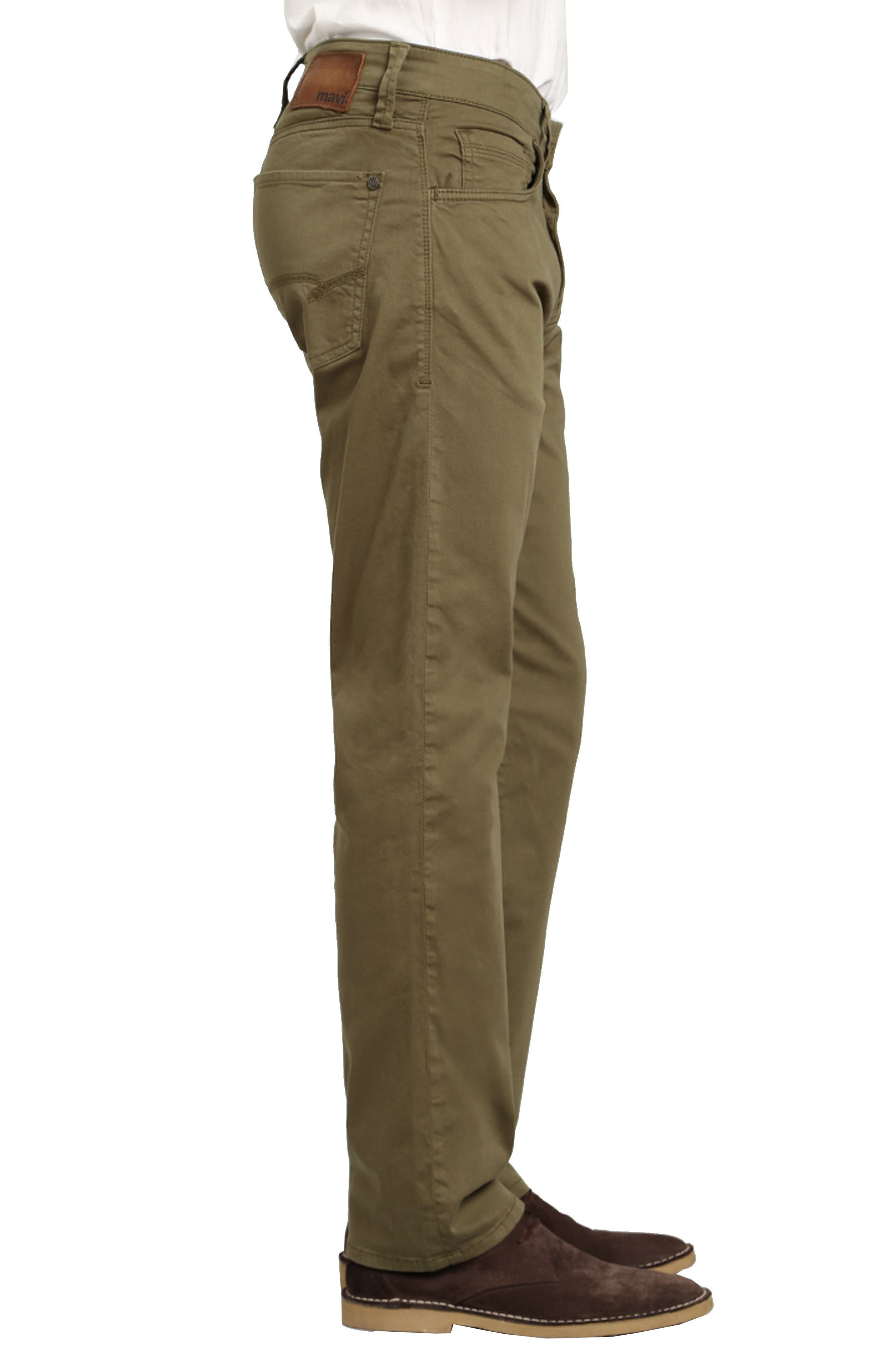 Zach Straight Fit Twill Pants,                             Alternate thumbnail 3, color,                             GREEN OLIVE TWILL
