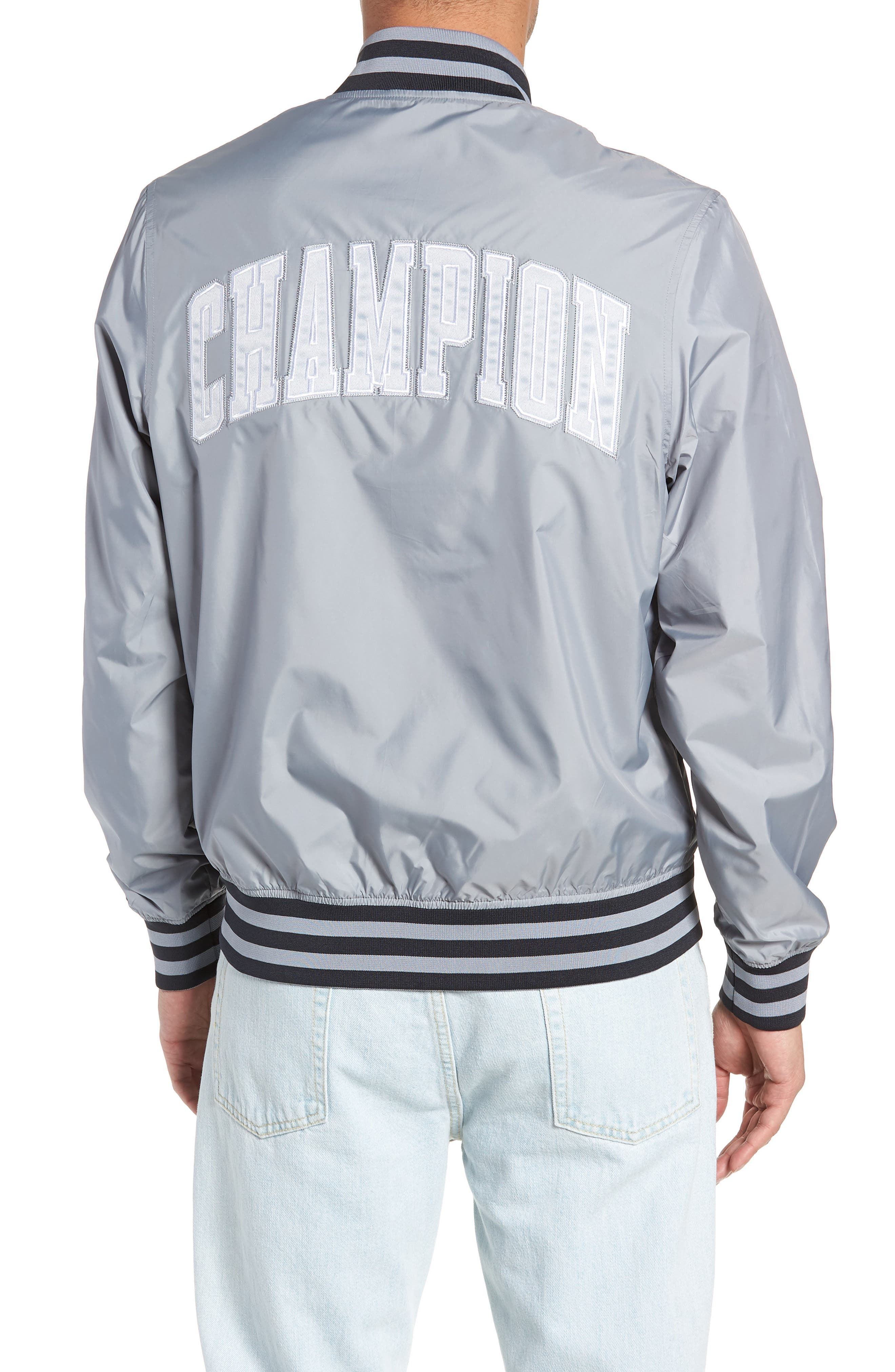 Satin Baseball Jacket,                             Alternate thumbnail 2, color,                             030