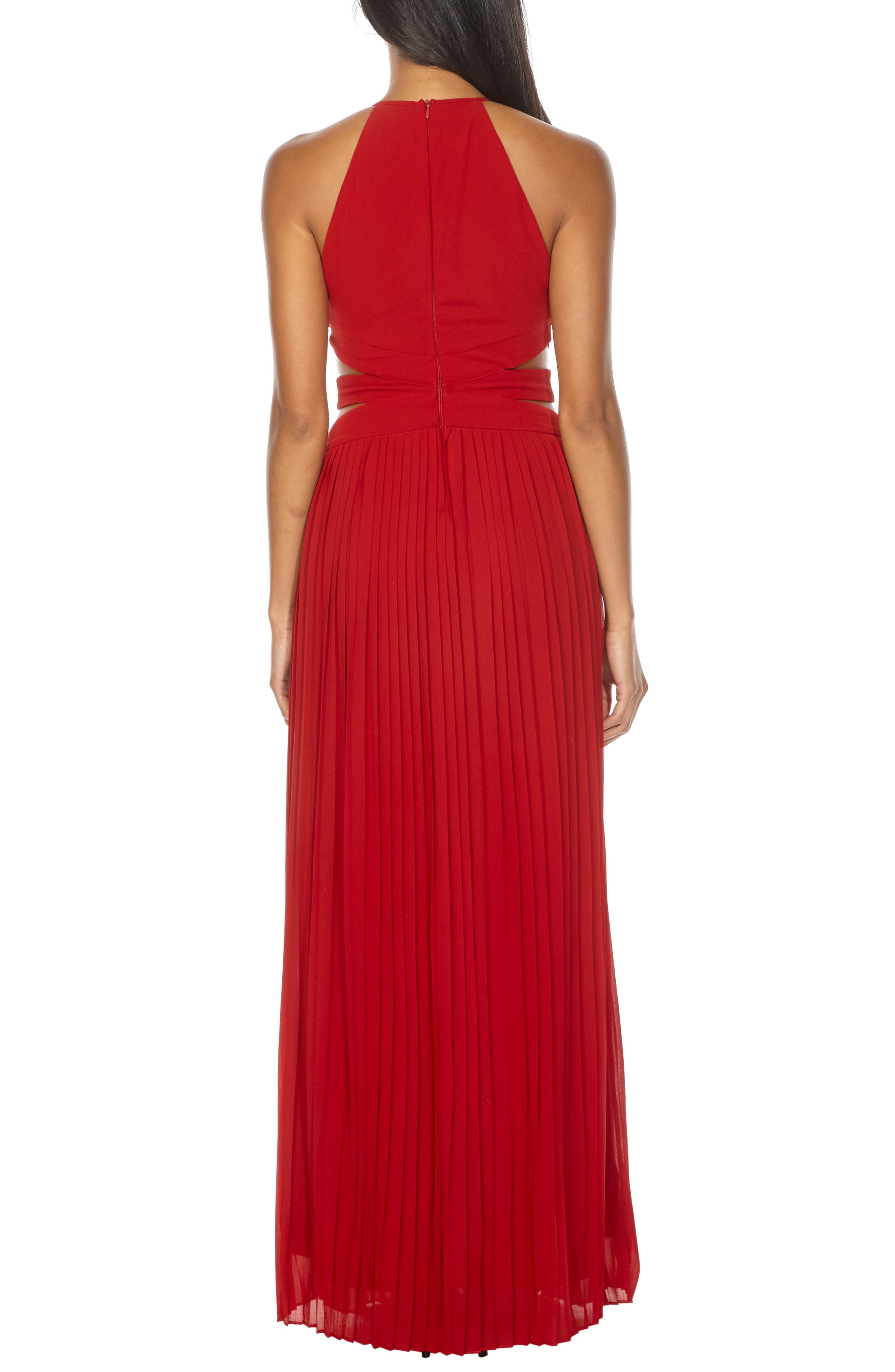 Boston Cutout Maxi Dress,                             Alternate thumbnail 2, color,                             RUBY RED