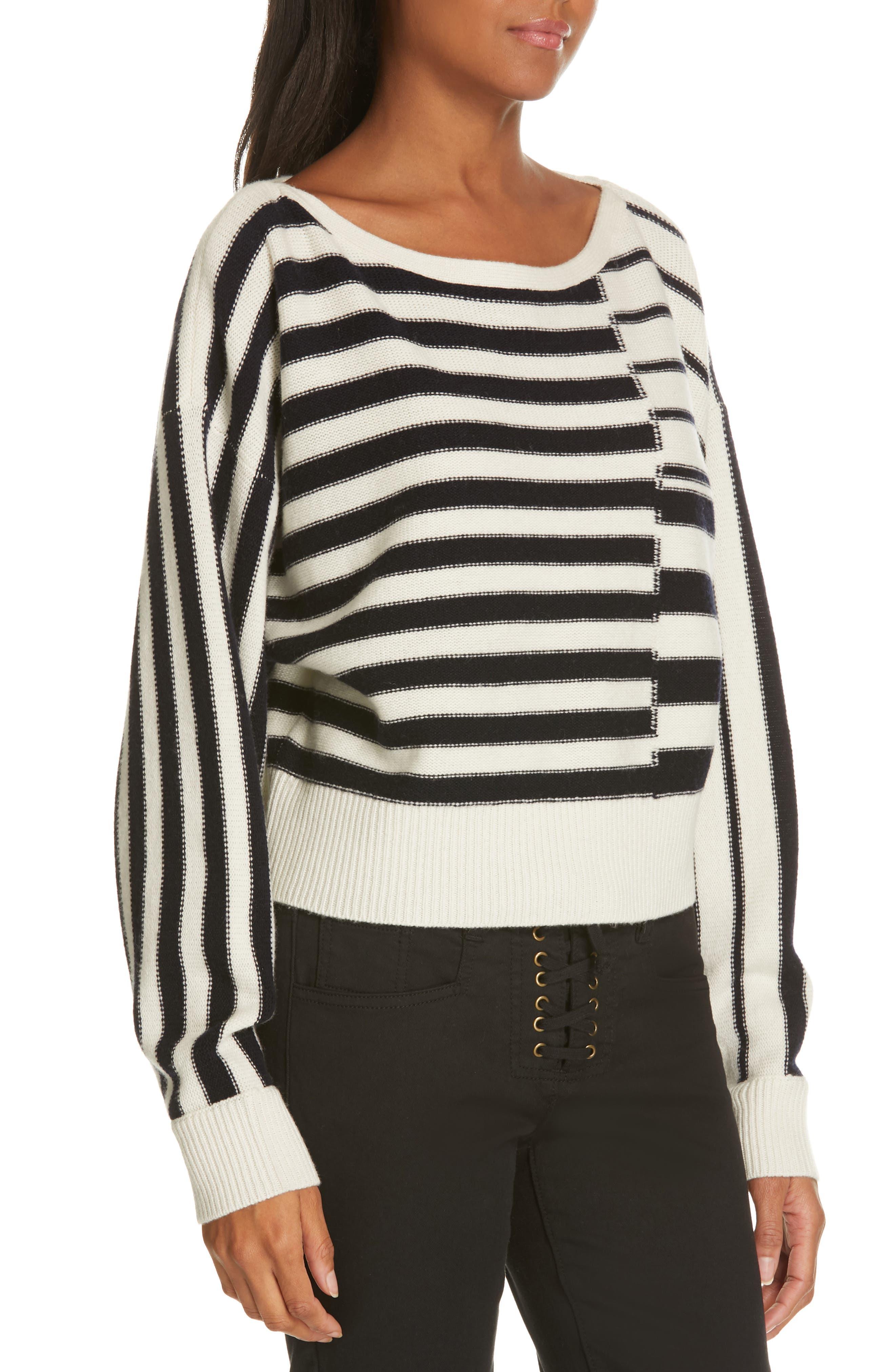 Maridel Sweater,                             Alternate thumbnail 4, color,                             PORCELAIN MIDNIGHT