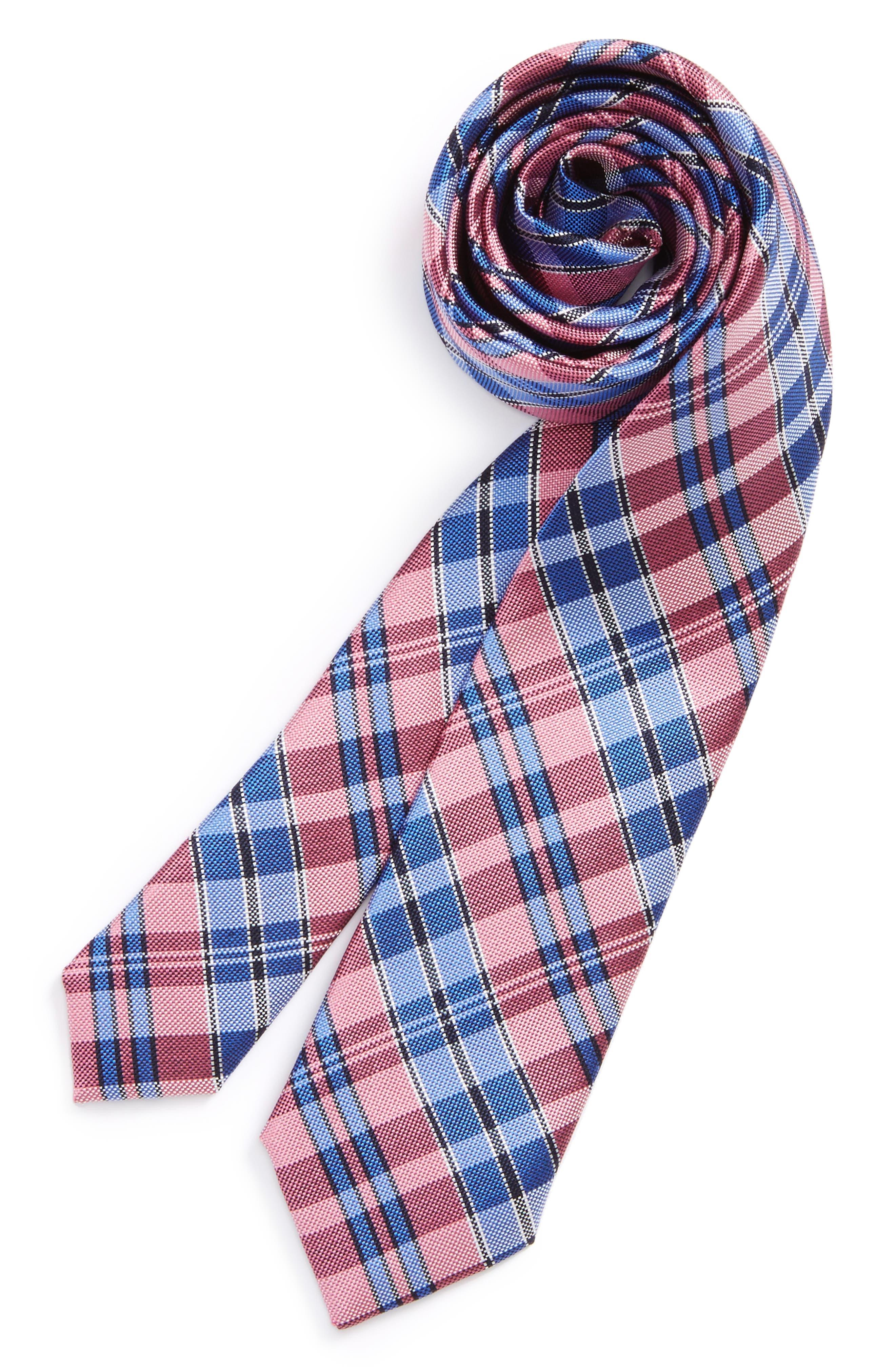 Check Silk Tie,                             Main thumbnail 9, color,