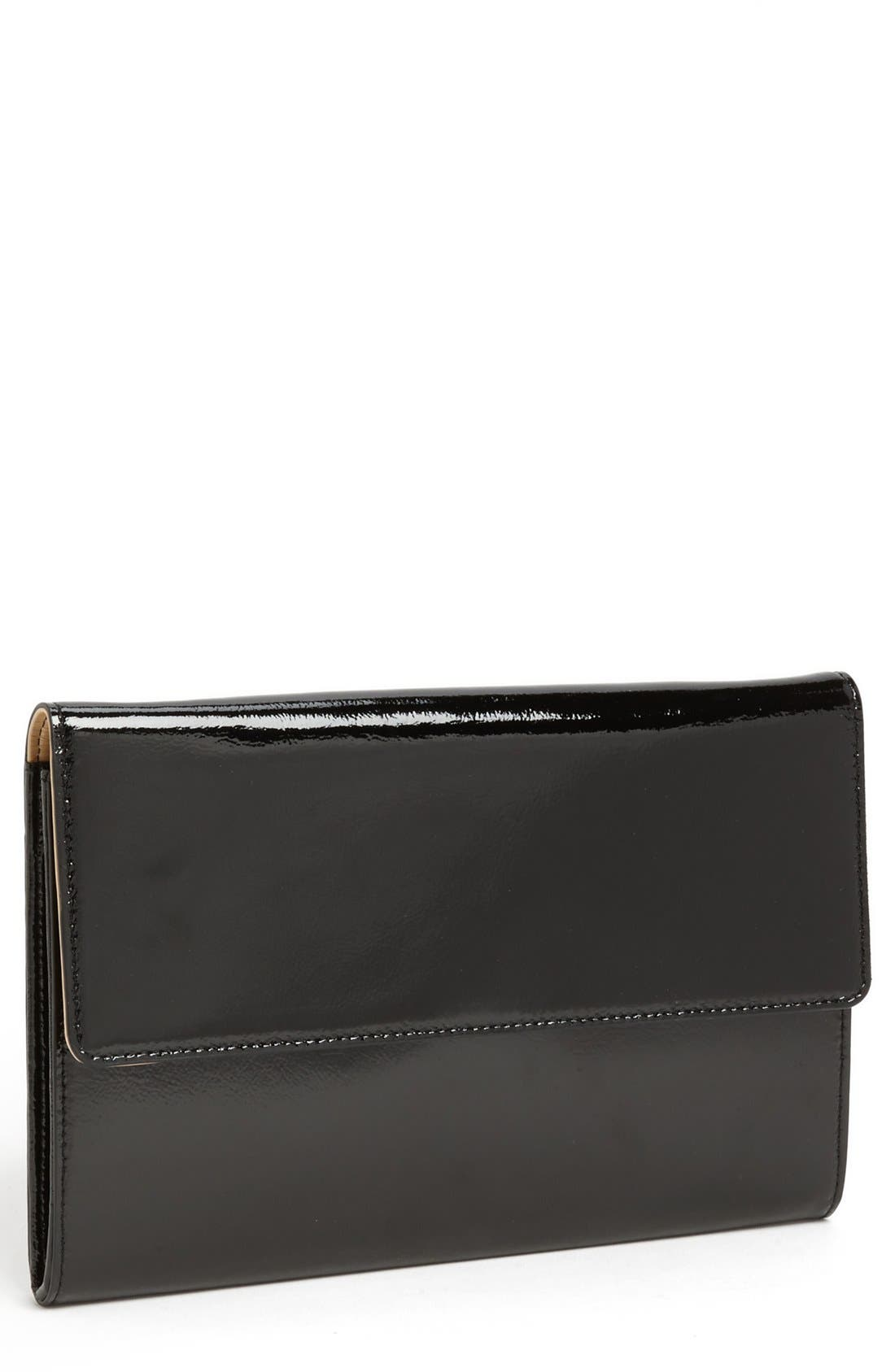Patent Leather Clutch,                         Main,                         color, 001