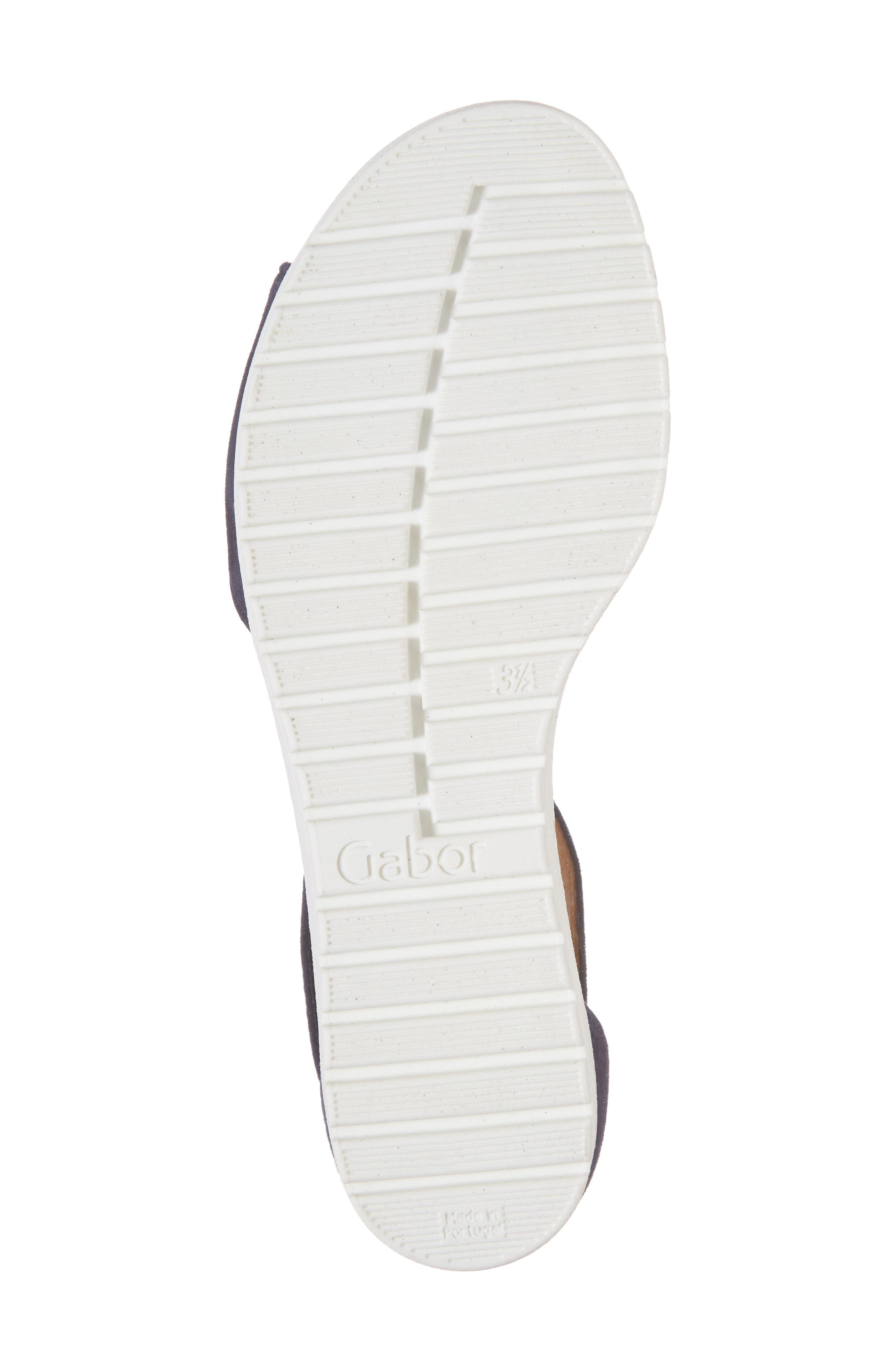 Ankle Strap Sandal,                             Alternate thumbnail 6, color,                             BLUE SUEDE