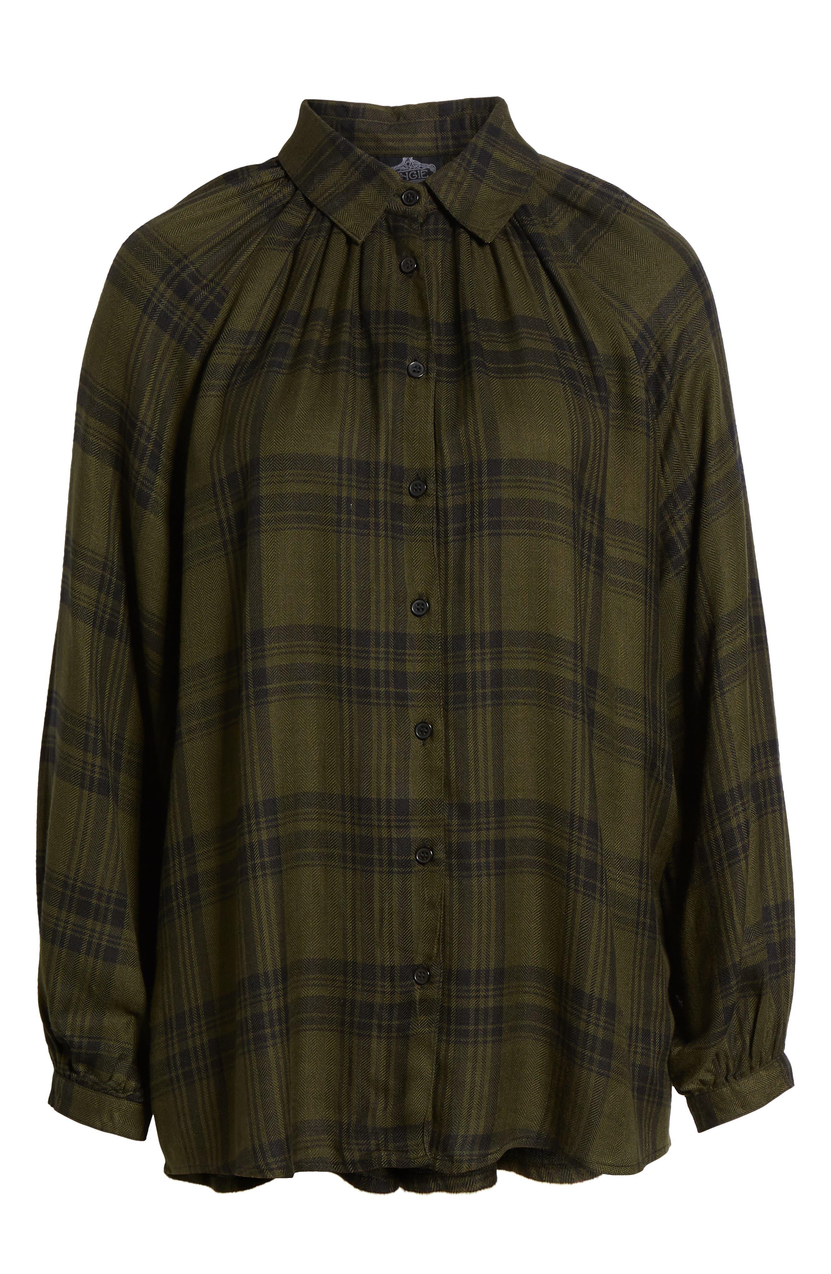 Fem Flannel Shirt,                             Alternate thumbnail 6, color,                             300