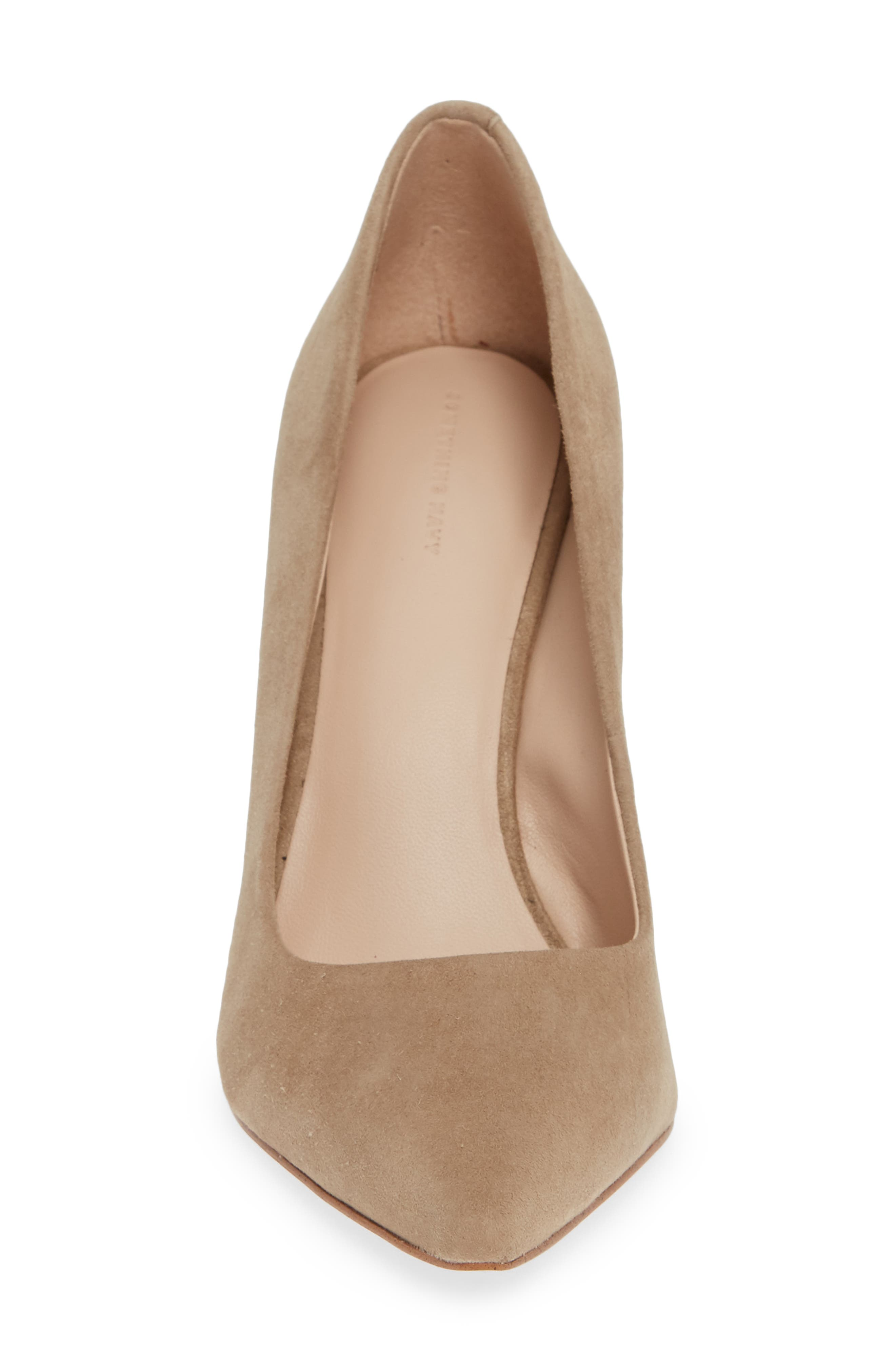 Emma Pump,                             Alternate thumbnail 4, color,                             TAUPE SUEDE