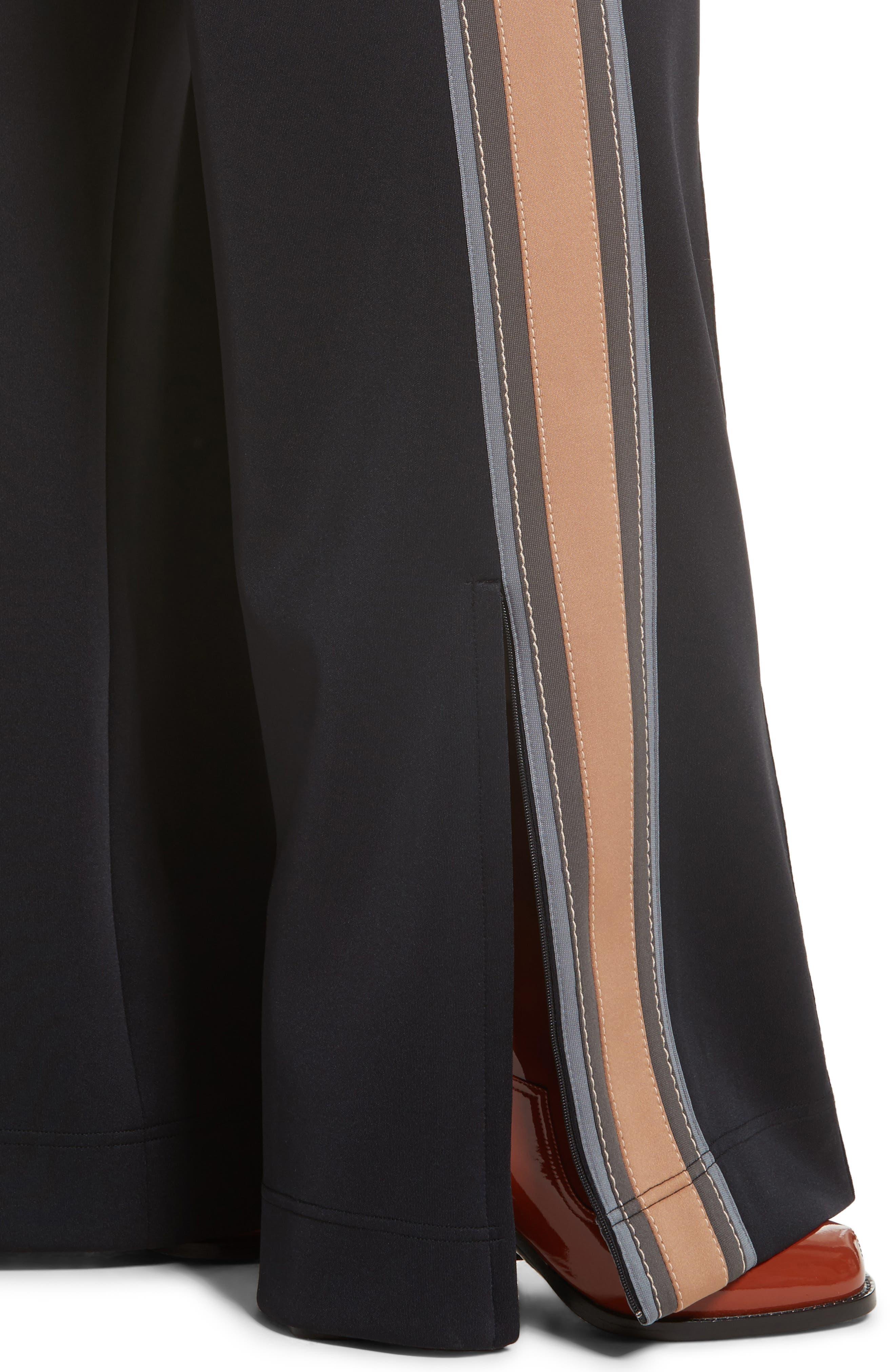 Stripe Jersey Track Pants,                             Alternate thumbnail 4, color,                             002