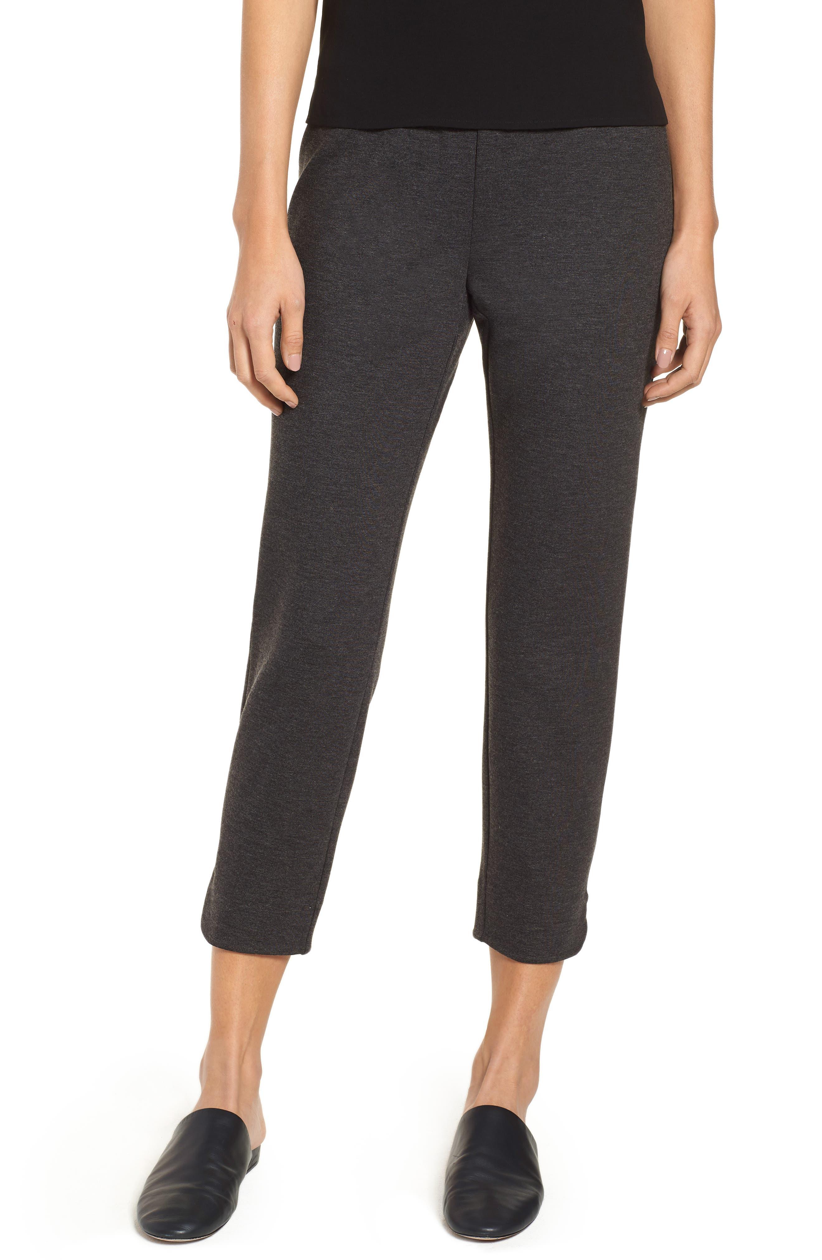 Slim Crop Pants,                         Main,                         color, CHARCOAL