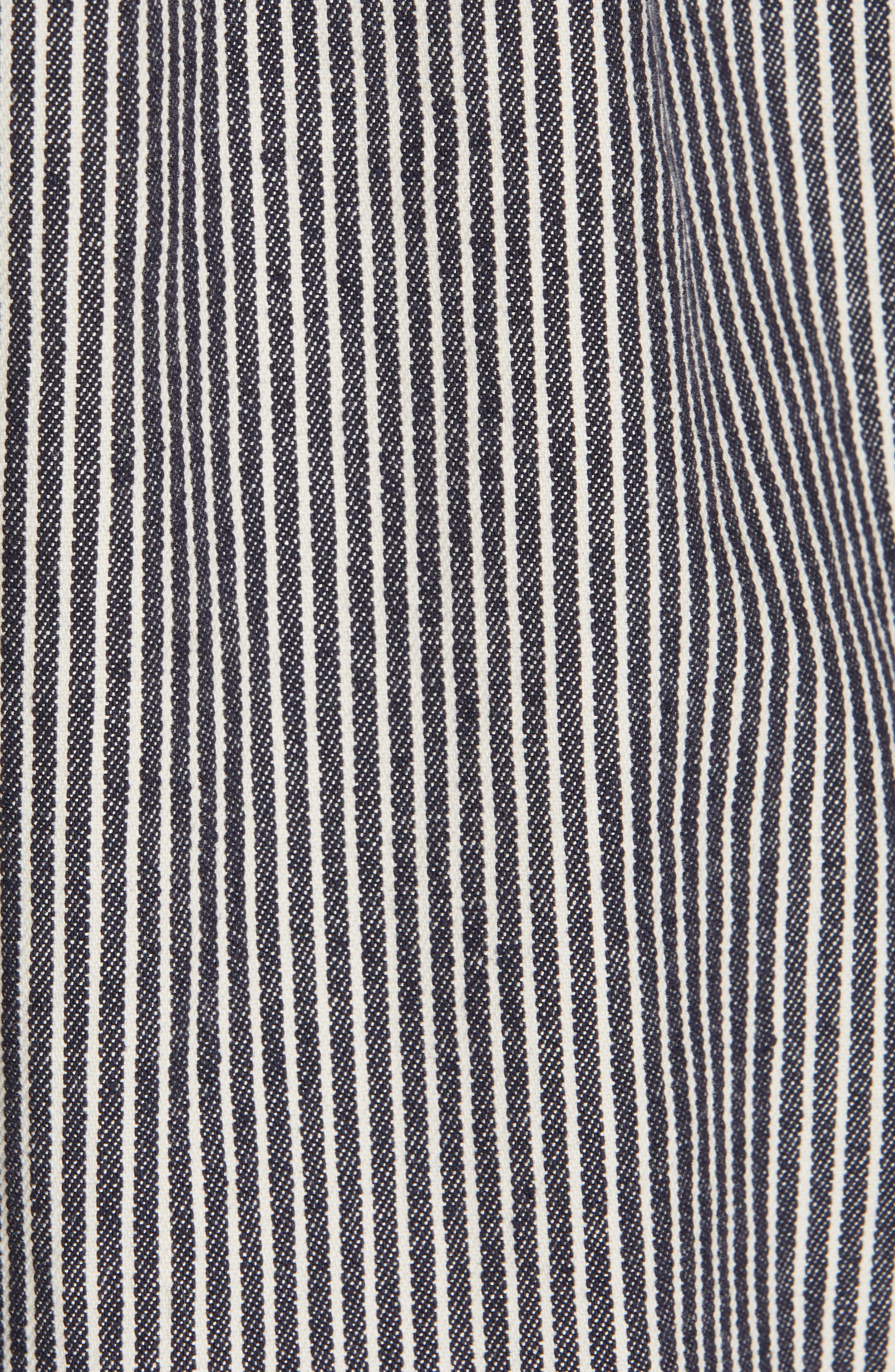 Railroad Stripe Field Jacket,                             Alternate thumbnail 7, color,                             INDIGO/ WHITE STRIPE