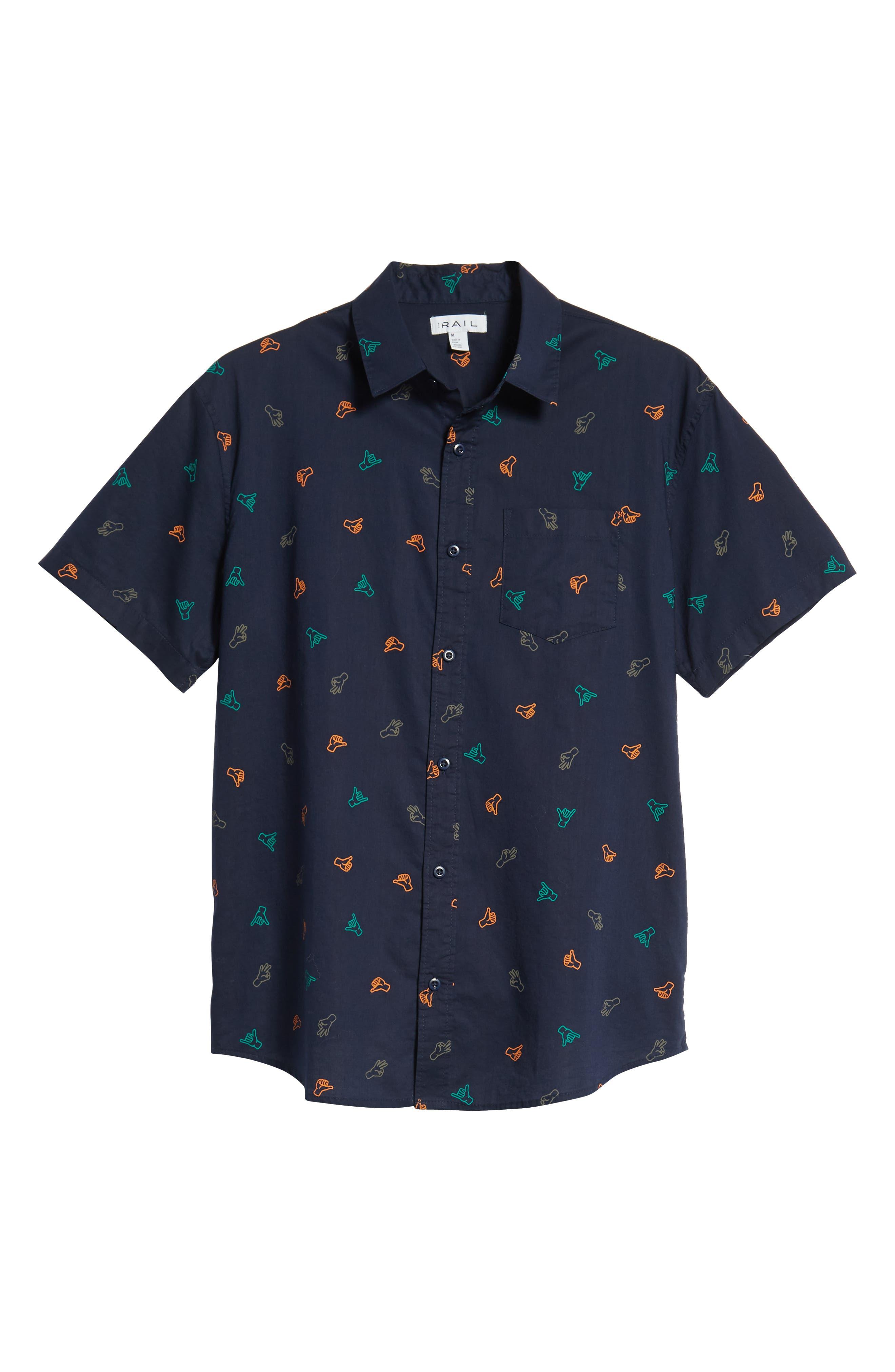 Print Camp Shirt,                             Alternate thumbnail 6, color,                             410