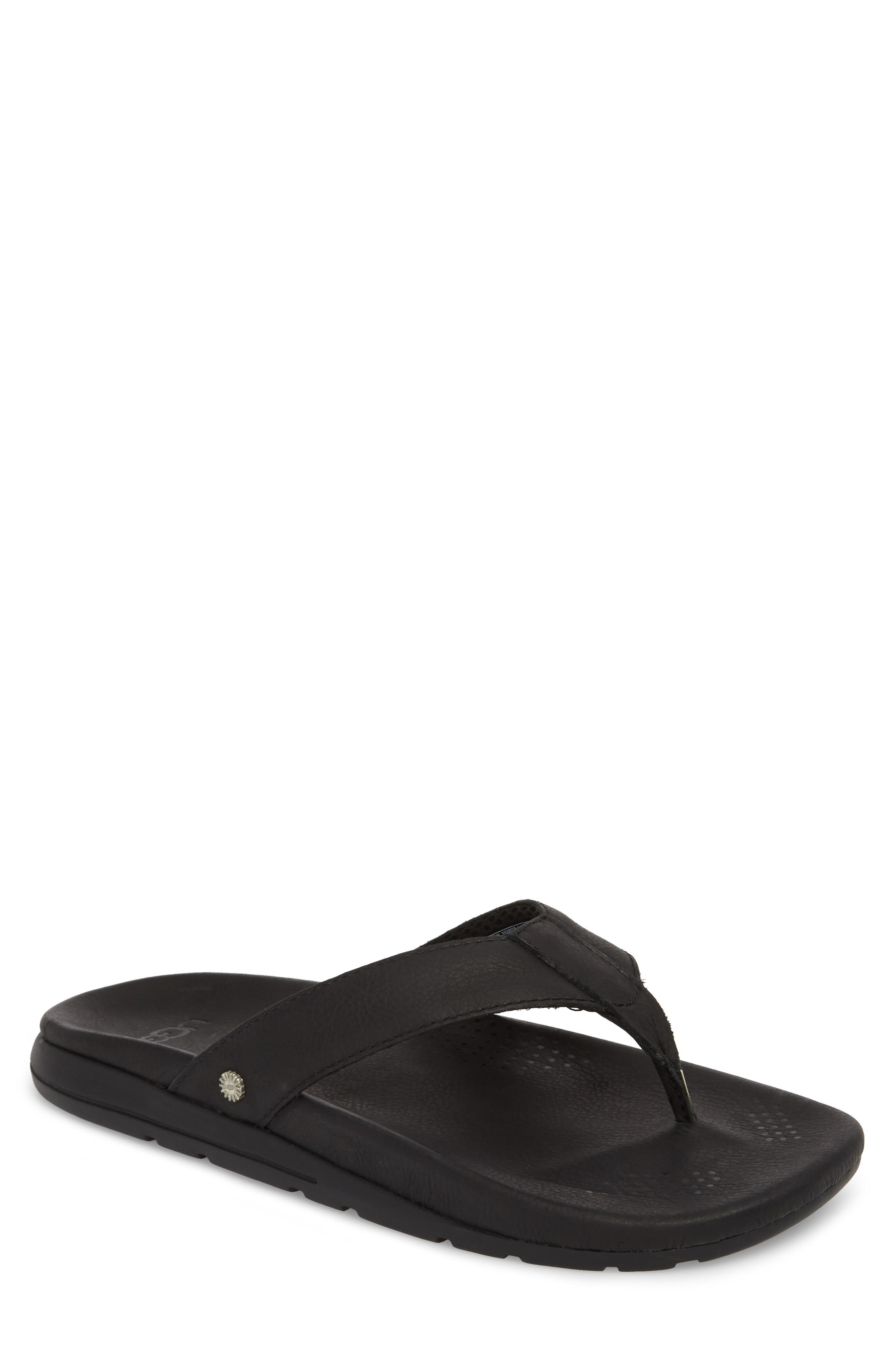 UGG<SUP>®</SUP>,                             Tenoch Luxe Flip Flop,                             Main thumbnail 1, color,                             001