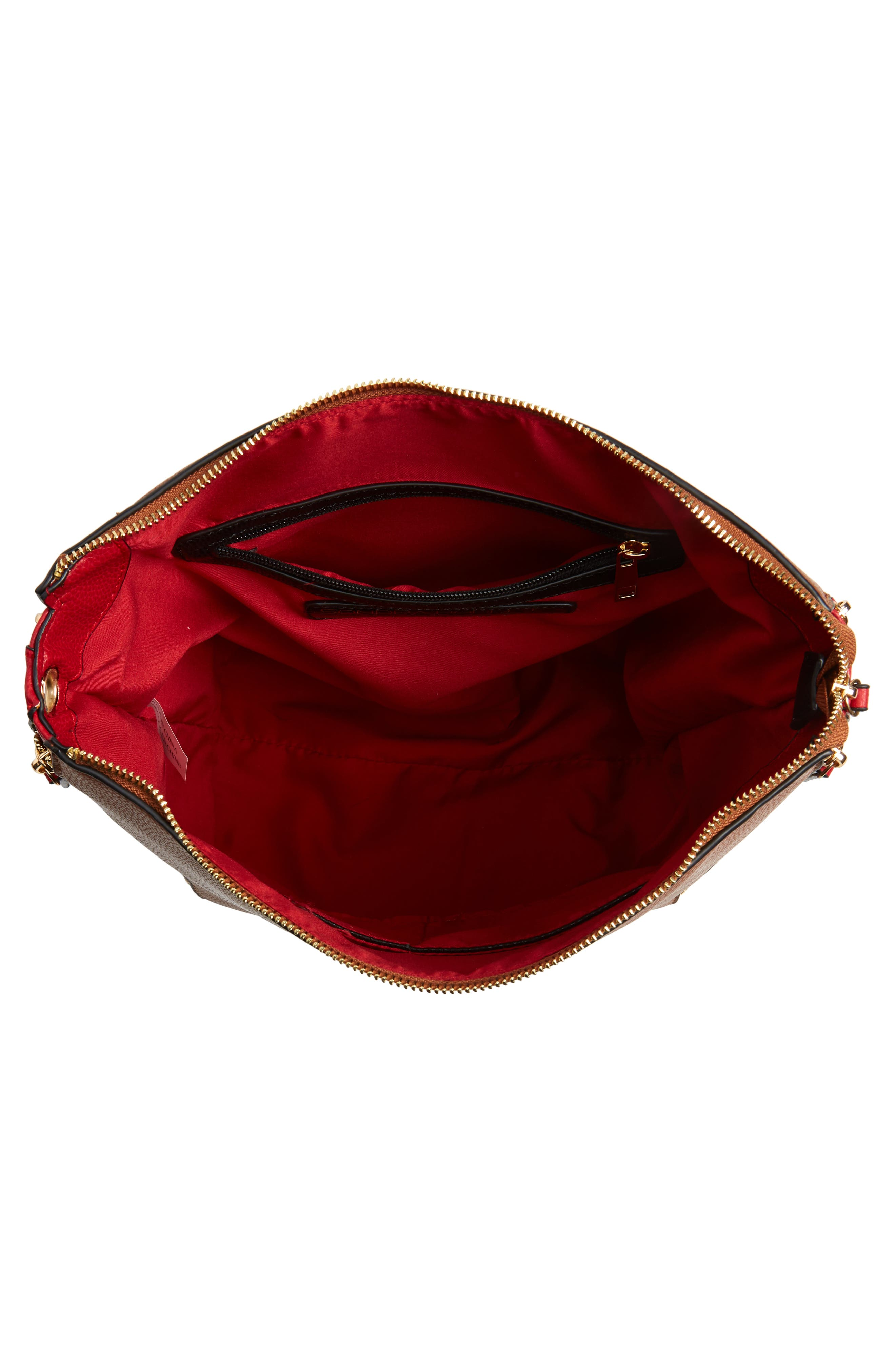 Colorblock Faux Leather Hobo,                             Alternate thumbnail 5, color,                             240