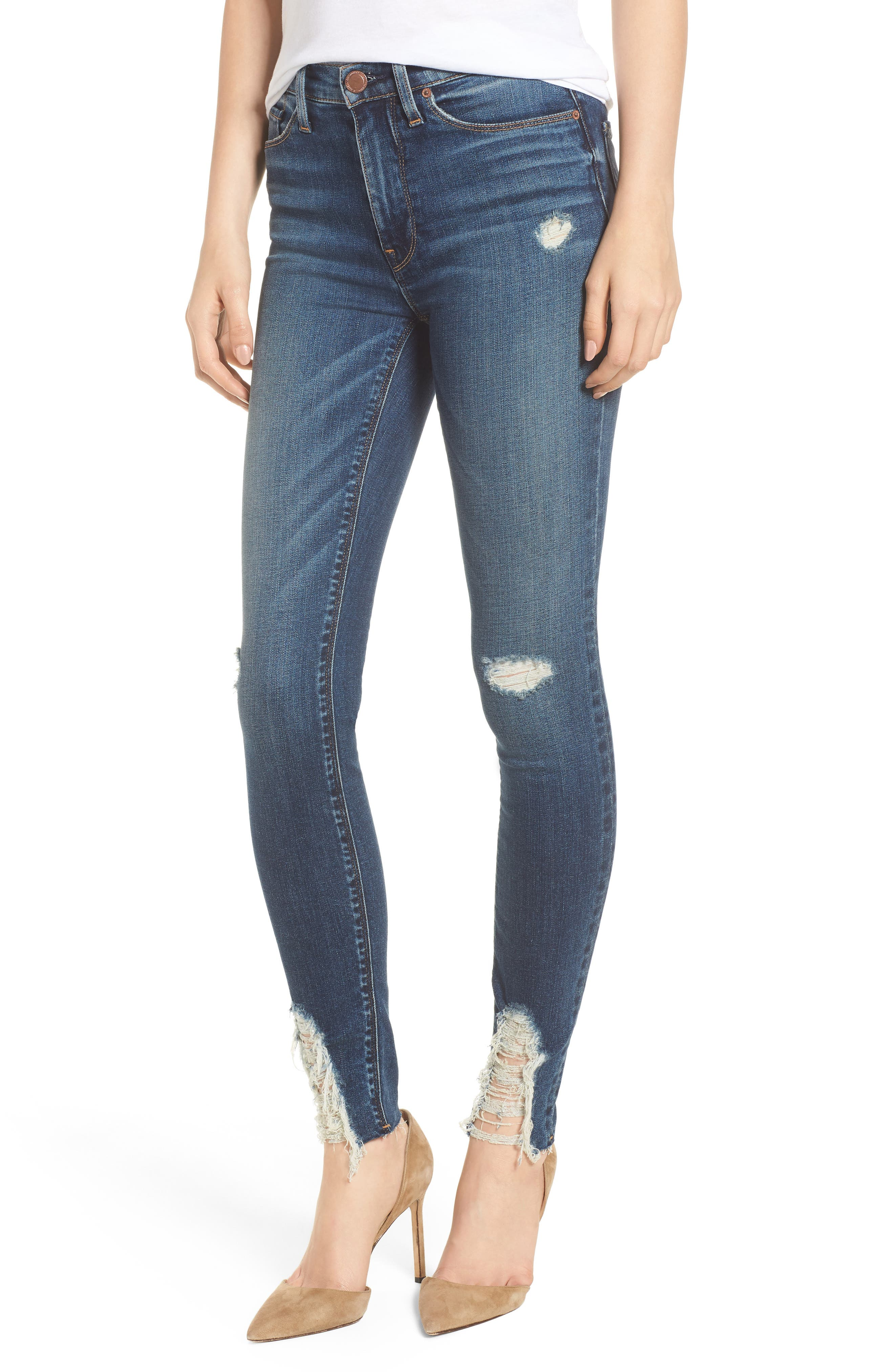 Hudson Barbara High Waist Ankle Skinny Jeans,                         Main,                         color, 401