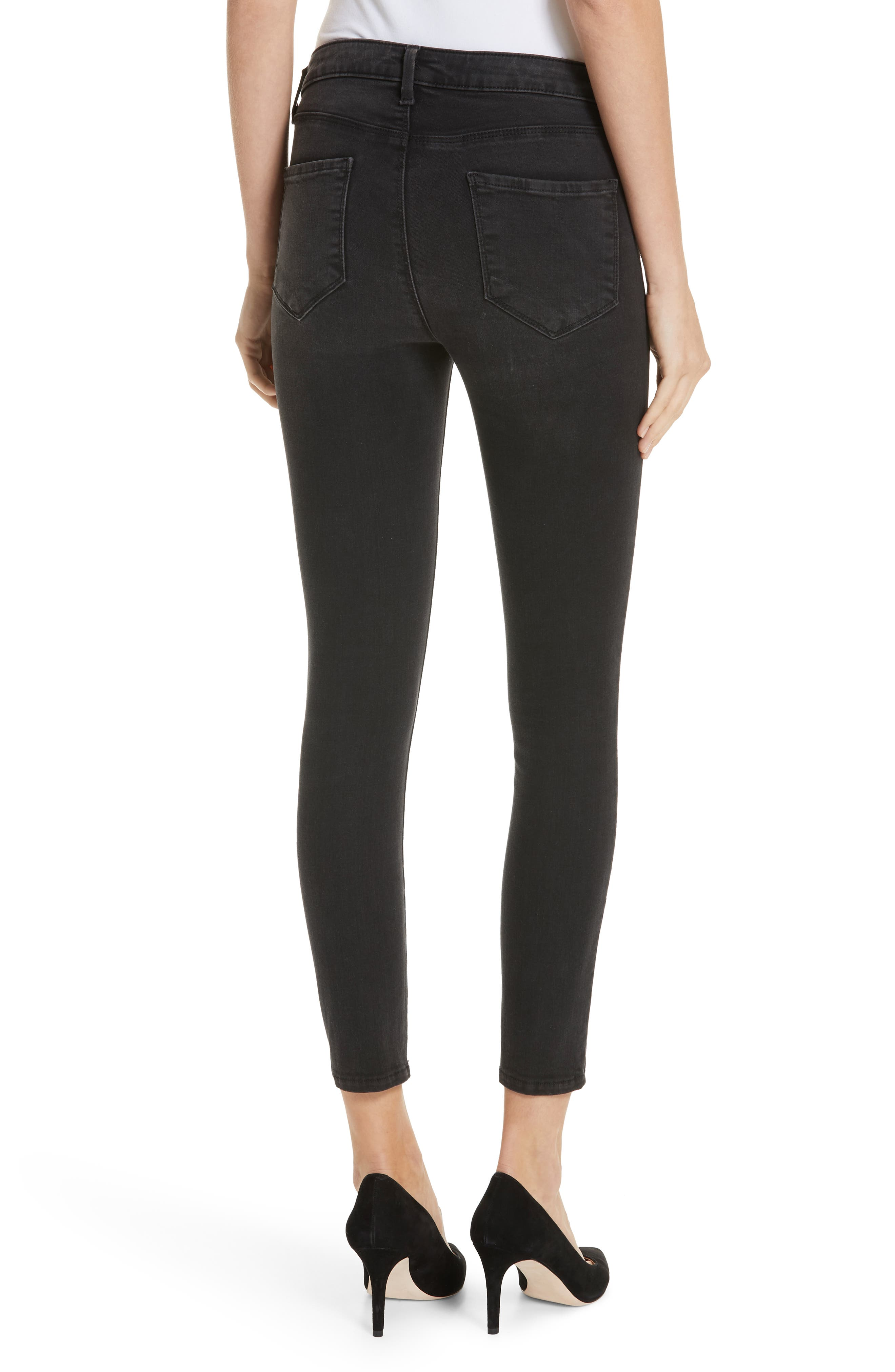 Margot Crop Skinny Jeans,                             Alternate thumbnail 2, color,                             DARK GRAPHITE