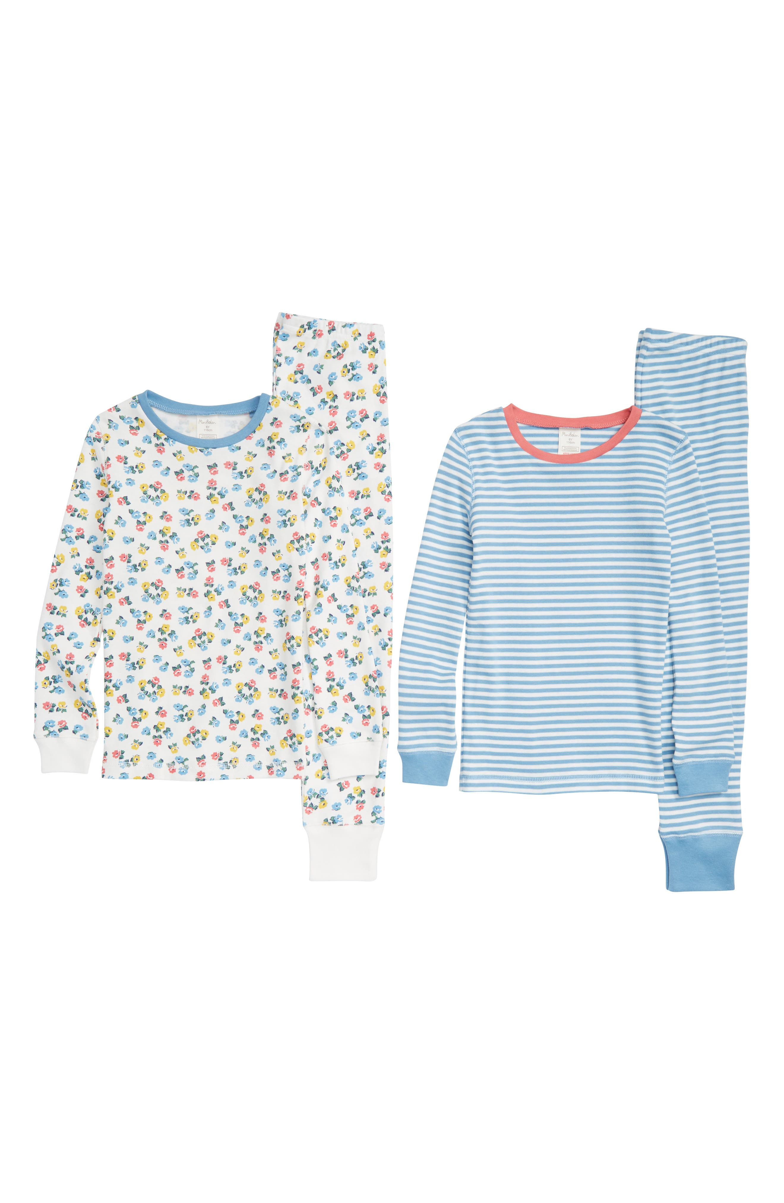 Toddler Girls Mini Boden 2Pack Fitted TwoPiece Pajamas Size 3Y  Ivory