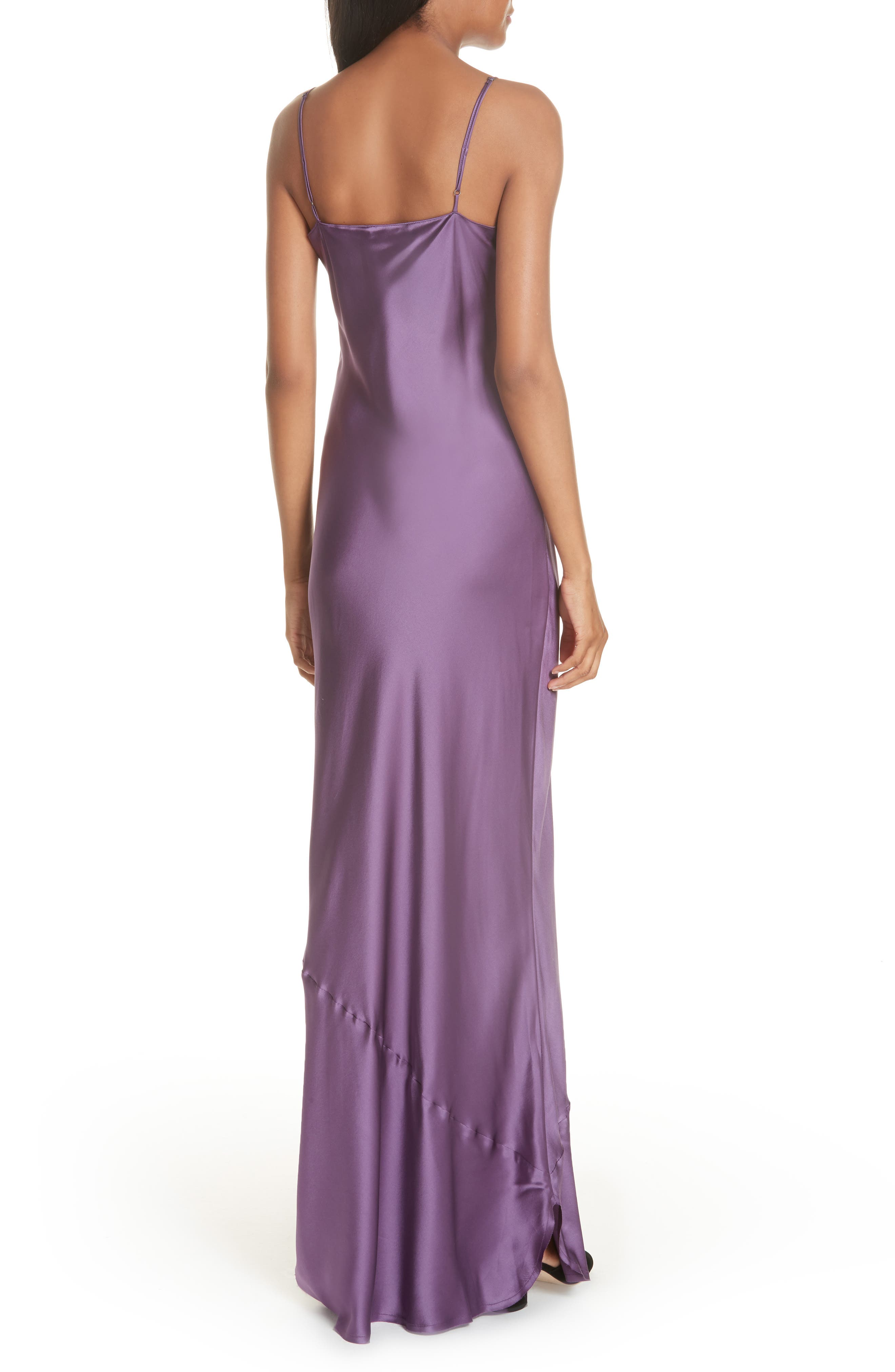Silk Camisole Gown,                             Alternate thumbnail 2, color,                             LILAC