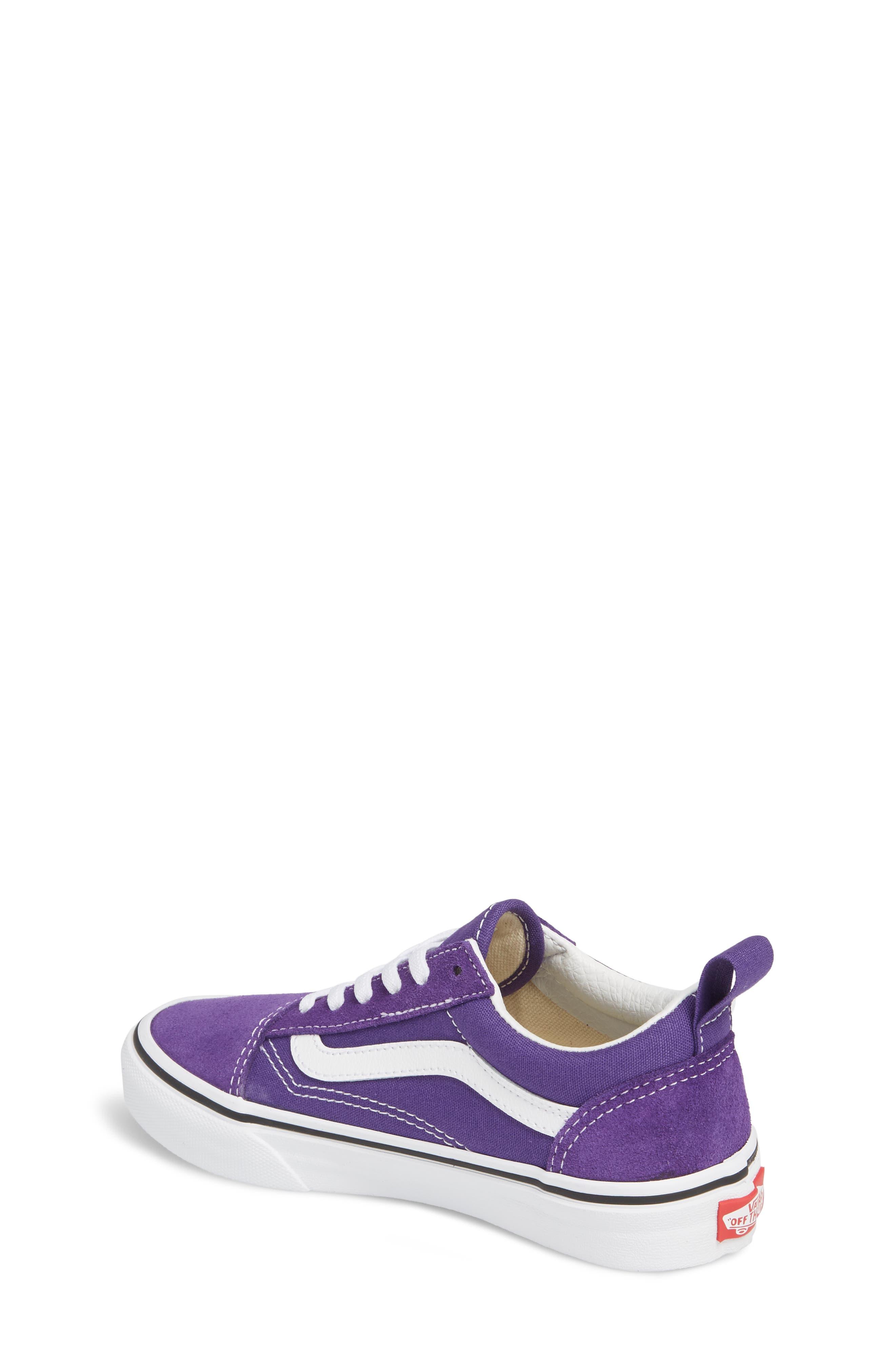 'Old Skool' Skate Sneaker,                             Alternate thumbnail 2, color,                             HELIOTROPE/ WHITE
