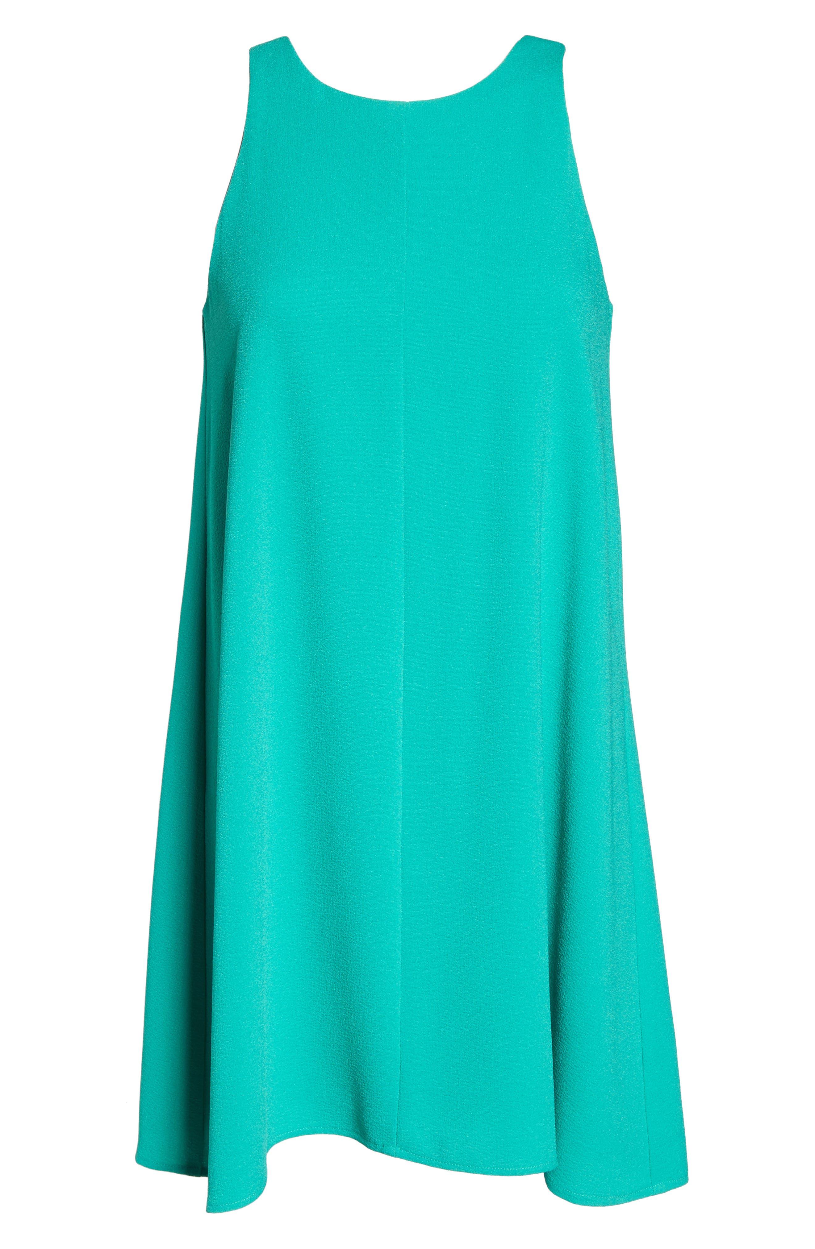 Bow Back Sleeveless Trapeze Dress,                             Alternate thumbnail 6, color,                             320