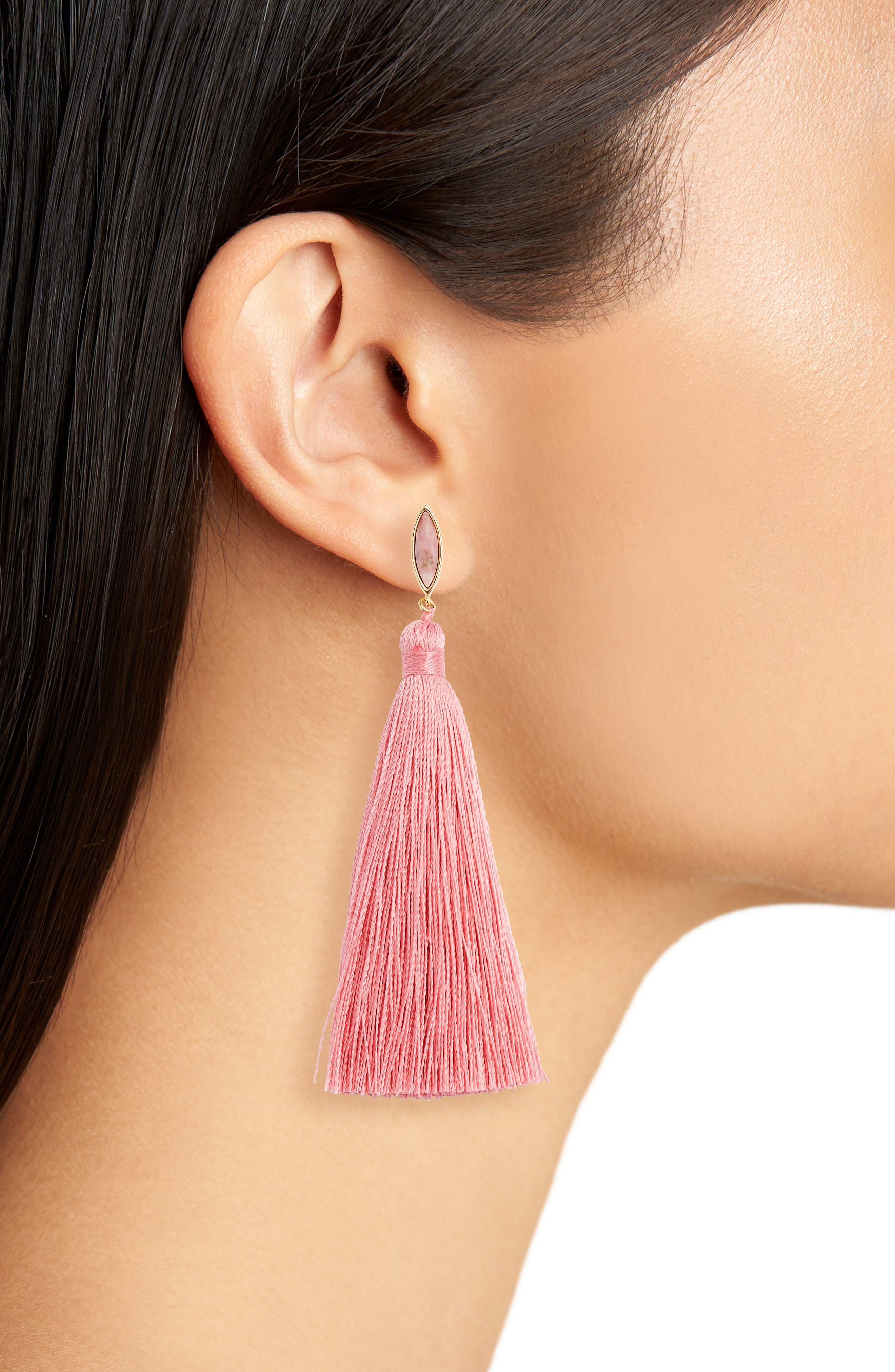 Palisades Tassel Earrings,                             Alternate thumbnail 8, color,