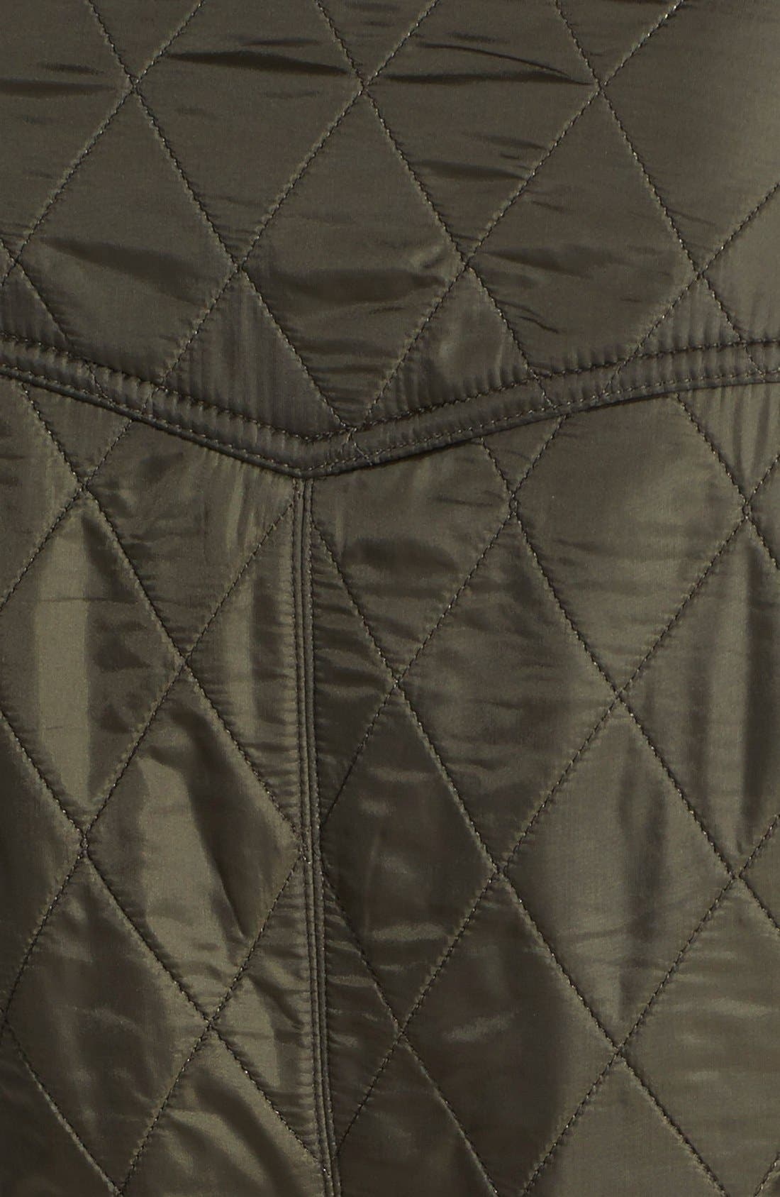 'Cavalry' Quilted Vest,                             Alternate thumbnail 9, color,                             OLIVE/ OLIVE