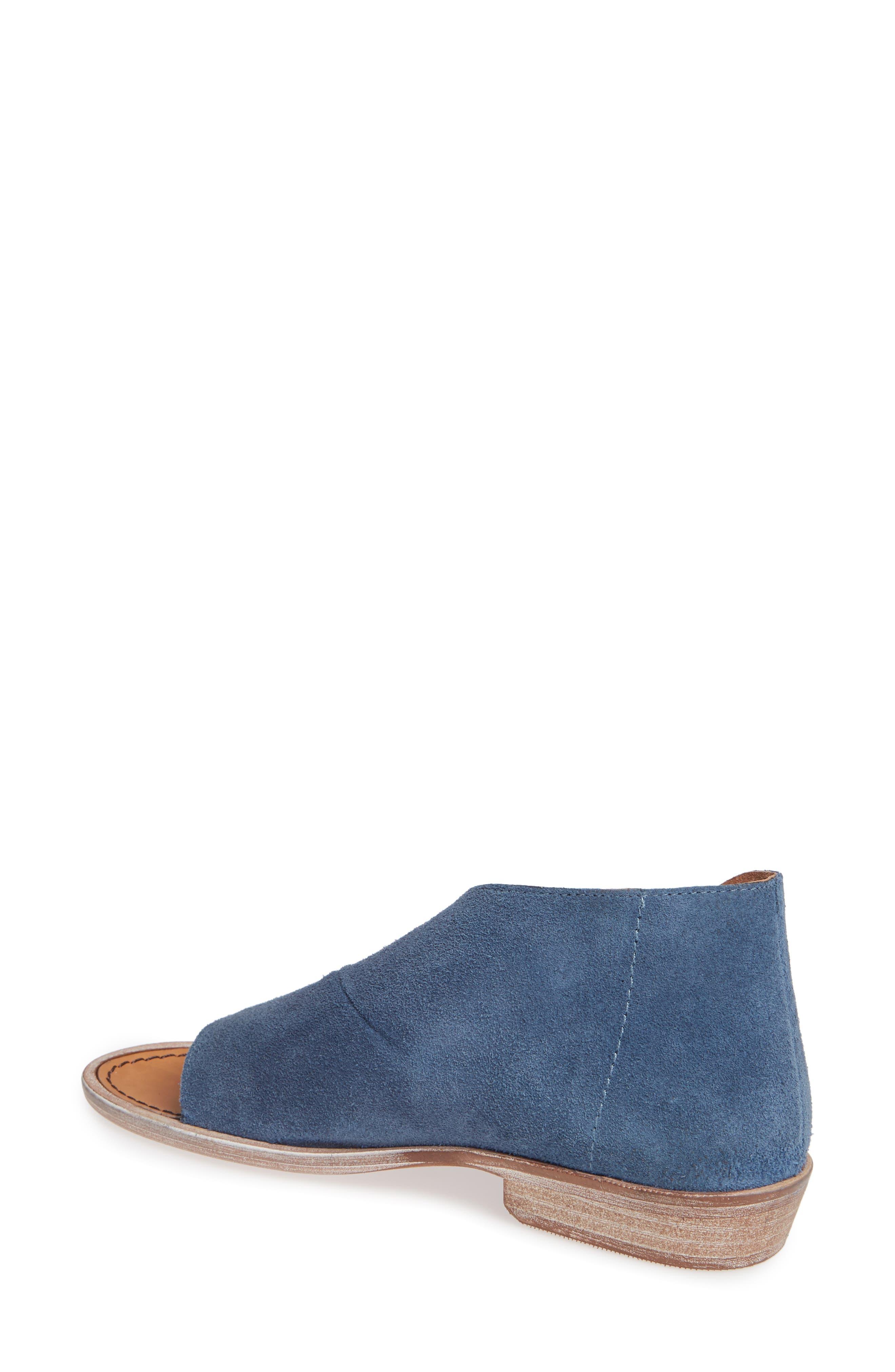 'Mont Blanc' Asymmetrical Sandal,                             Alternate thumbnail 2, color,                             BLUE SUEDE