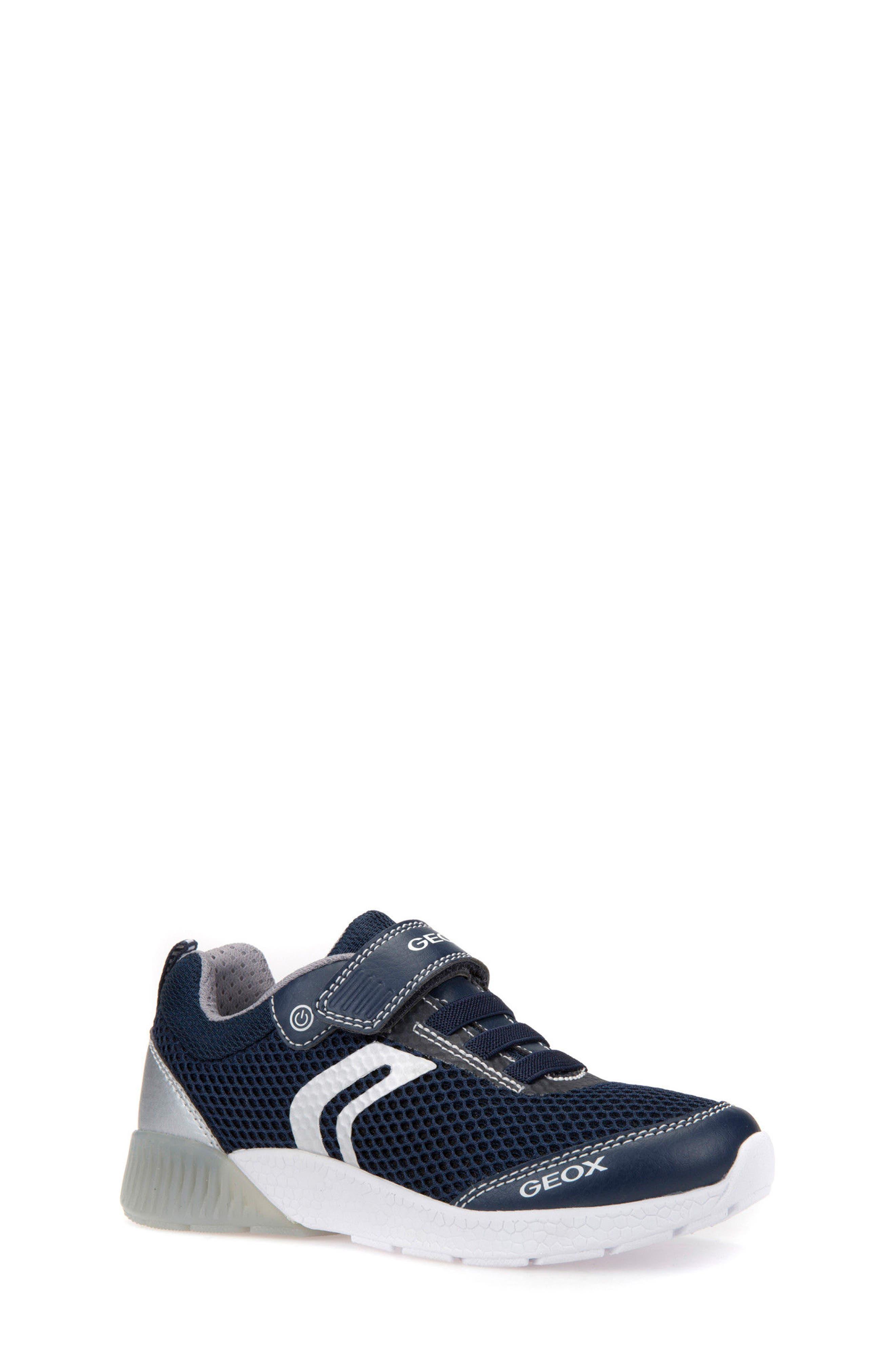 Sveth Light-Up Sneaker,                         Main,                         color, NAVY/ SILVER