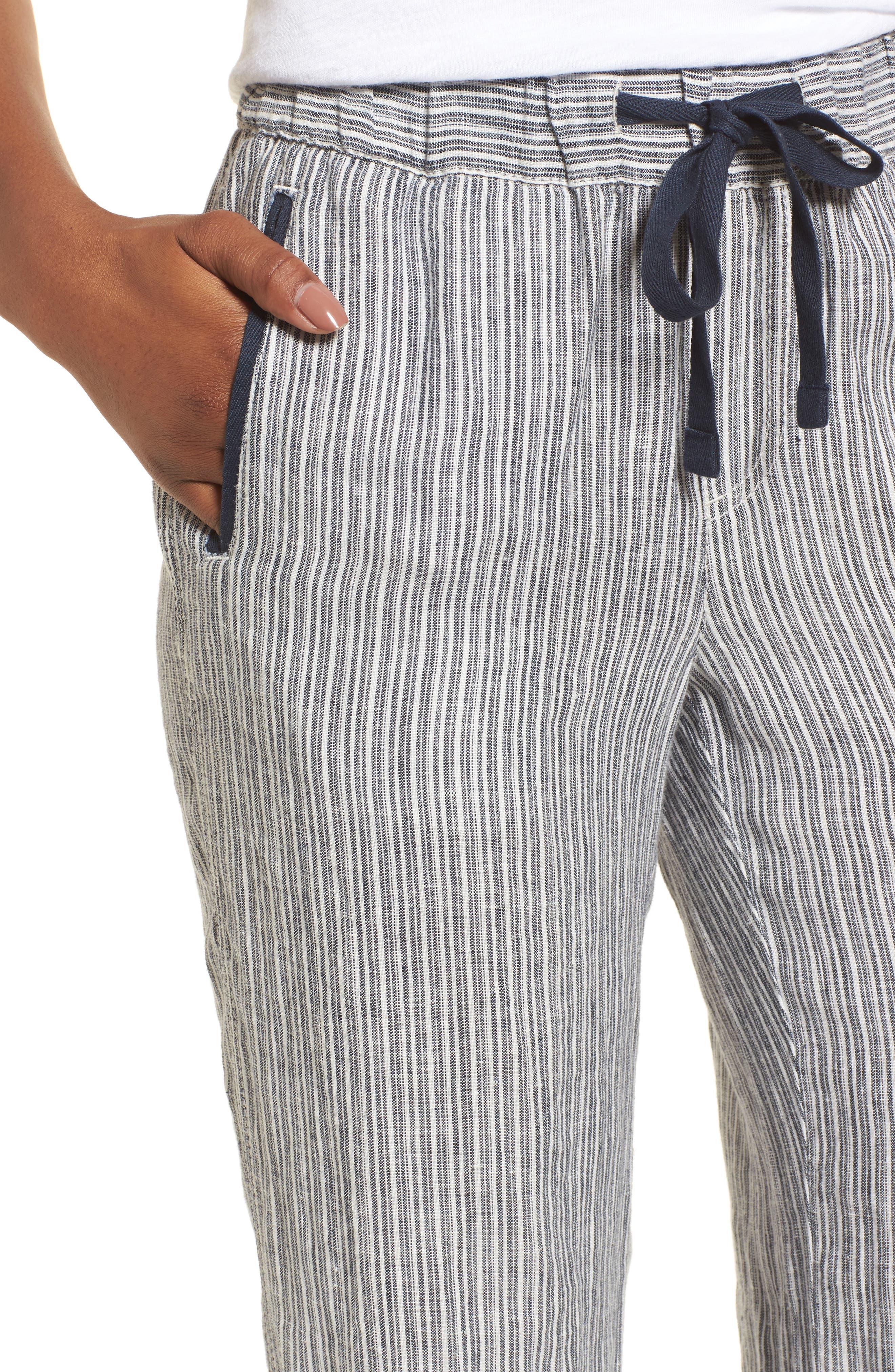Linen Track Pants,                             Alternate thumbnail 20, color,