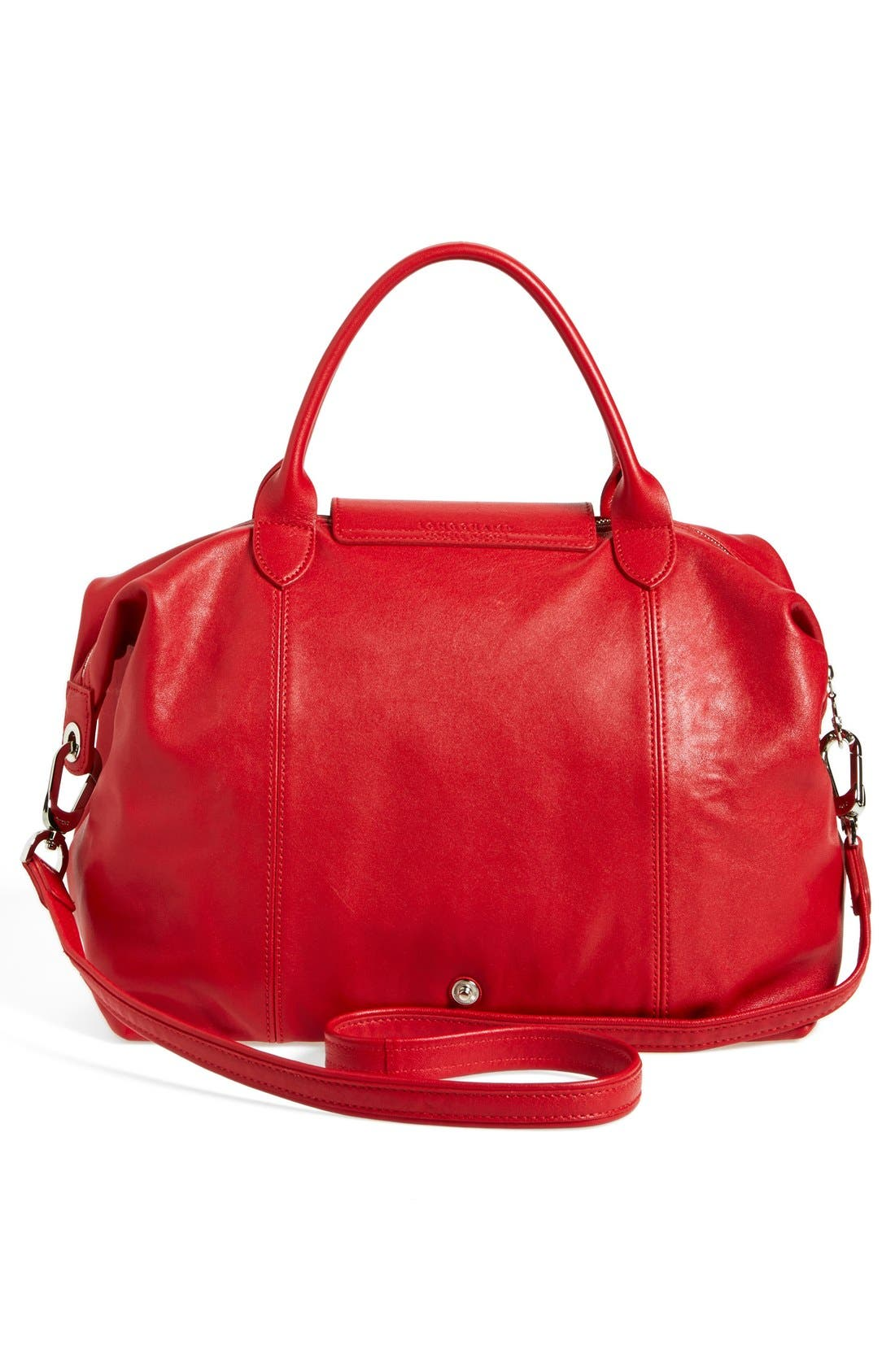 Medium 'Le Pliage Cuir' Leather Top Handle Tote,                             Alternate thumbnail 48, color,